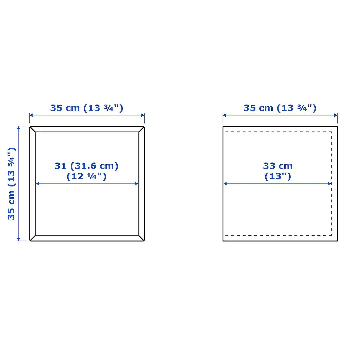 Eket Rangement Blanc 35x35x35 Cm Ikea