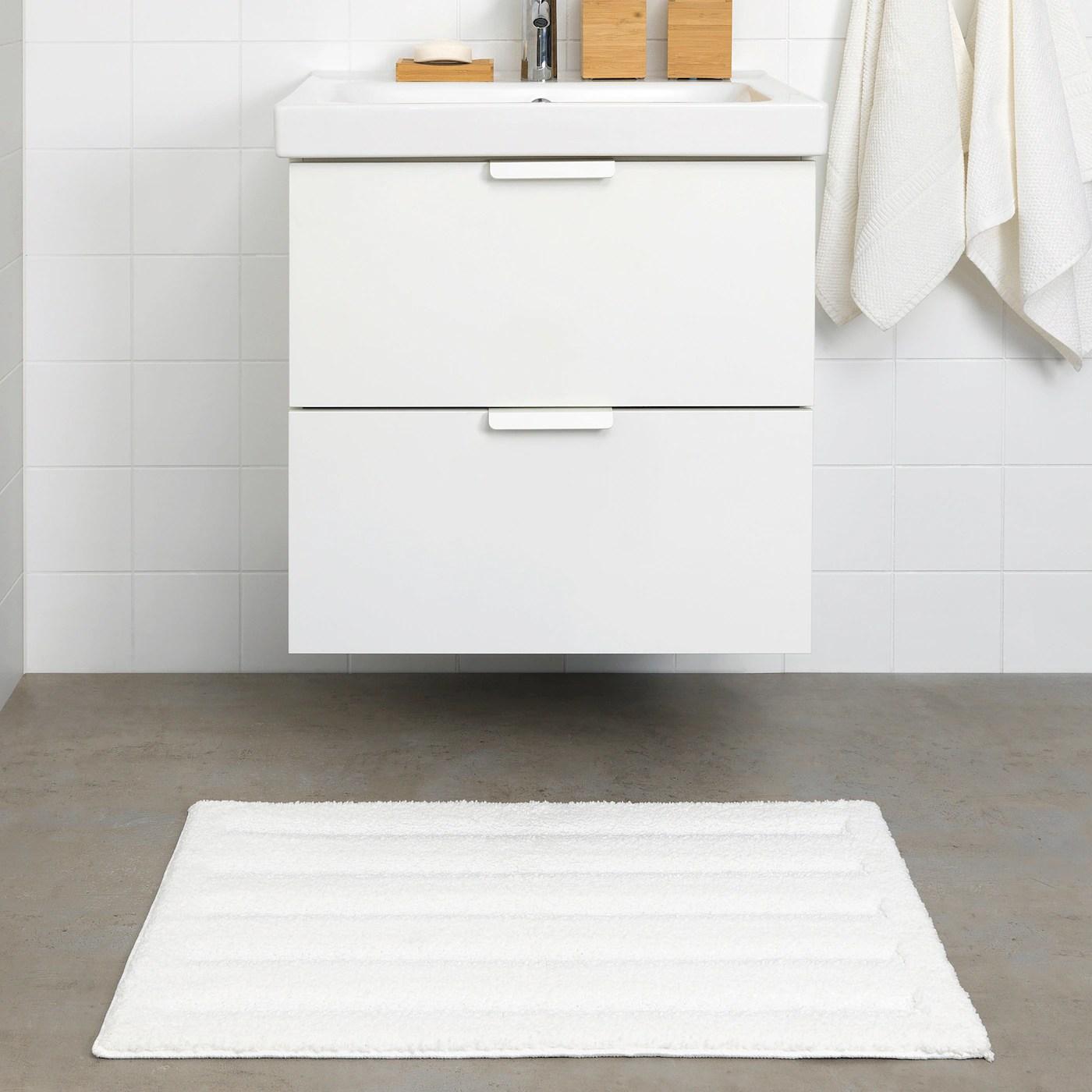 emten tapis de bain blanc 50x80 cm