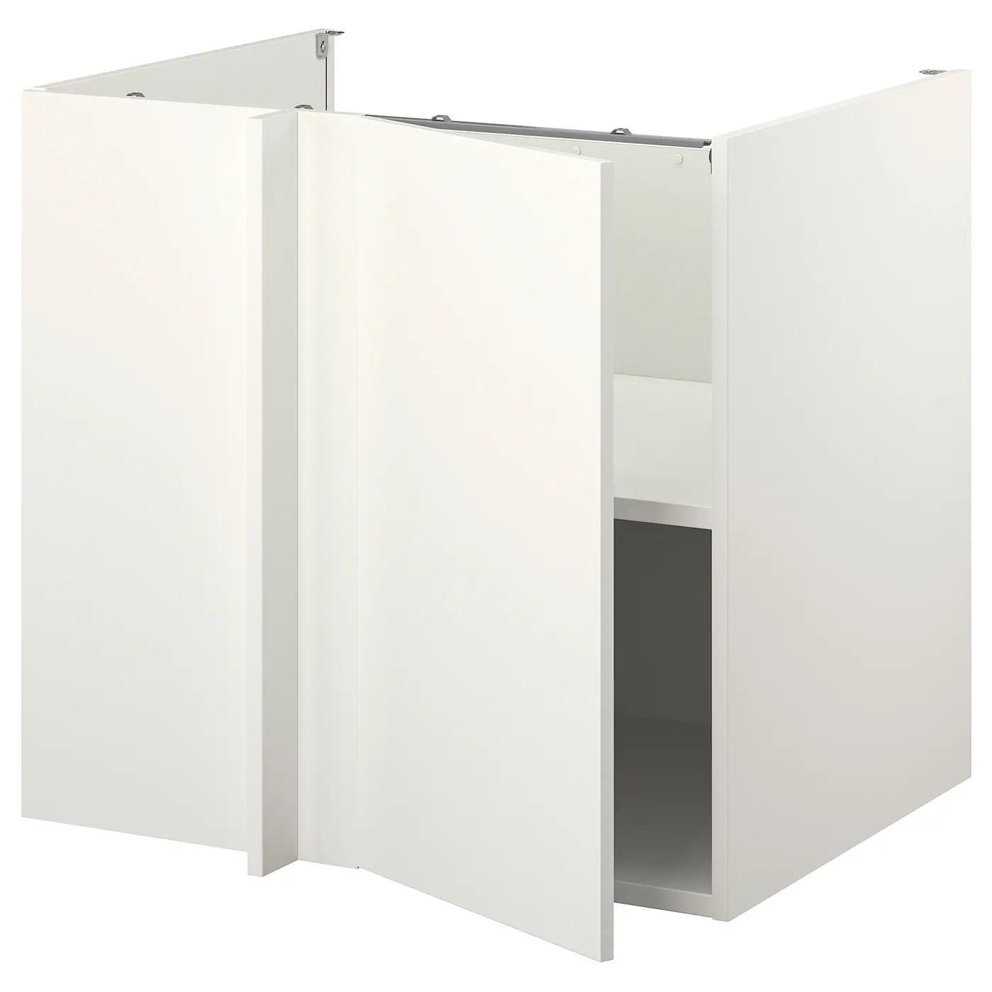 enhet element bas d angle blanc blanc 107x69x75 cm