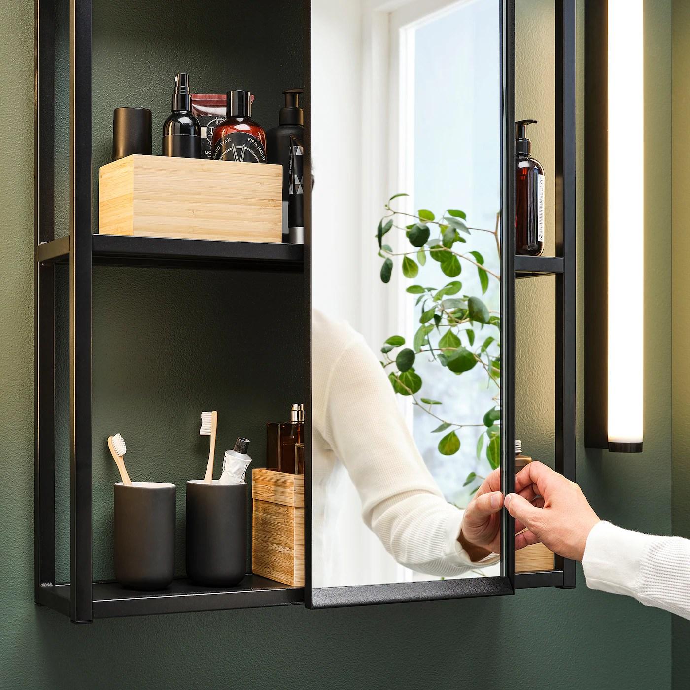 Enhet Meuble Avec Miroir Anthracite Ikea