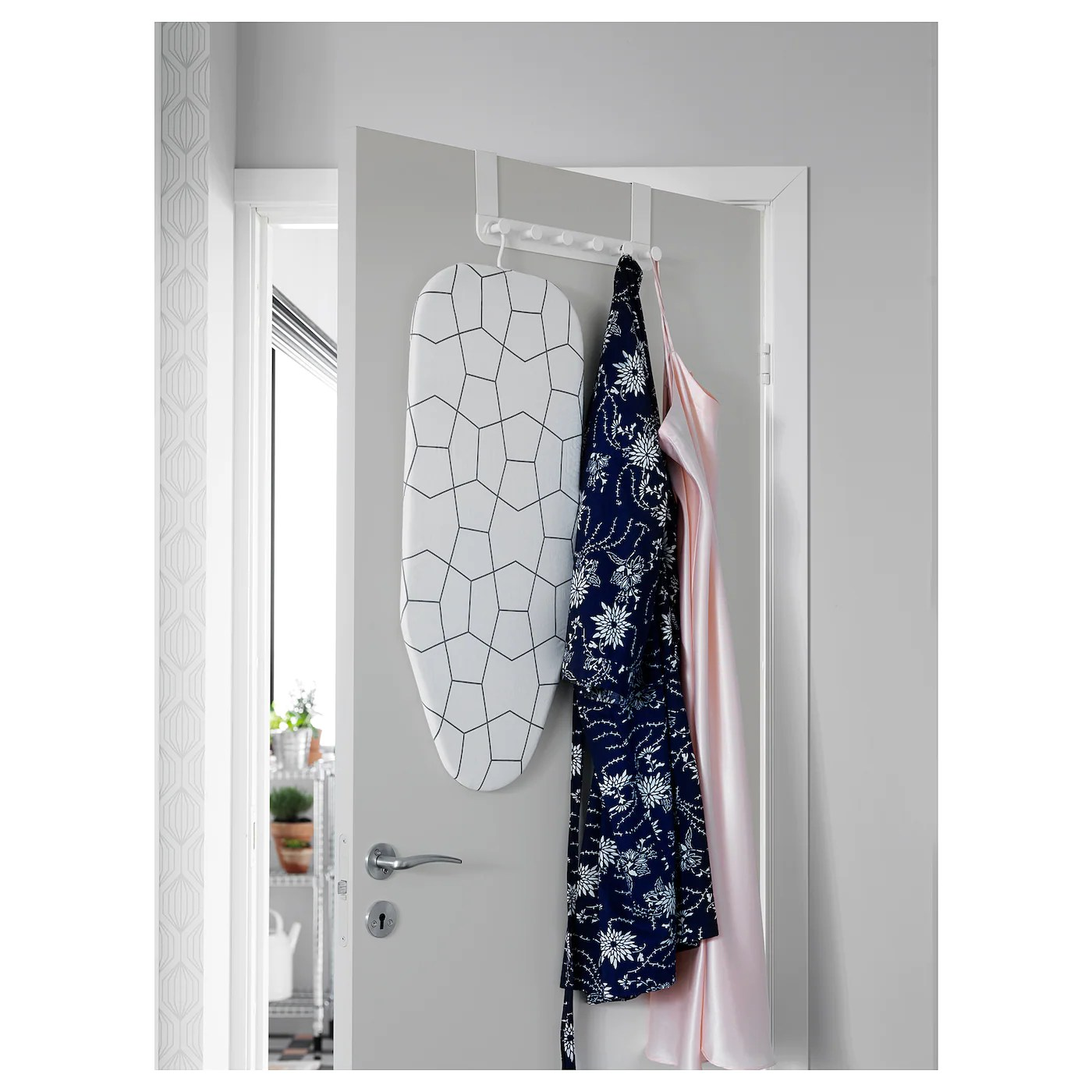 Enudden Patere Pour Porte Blanc Ikea