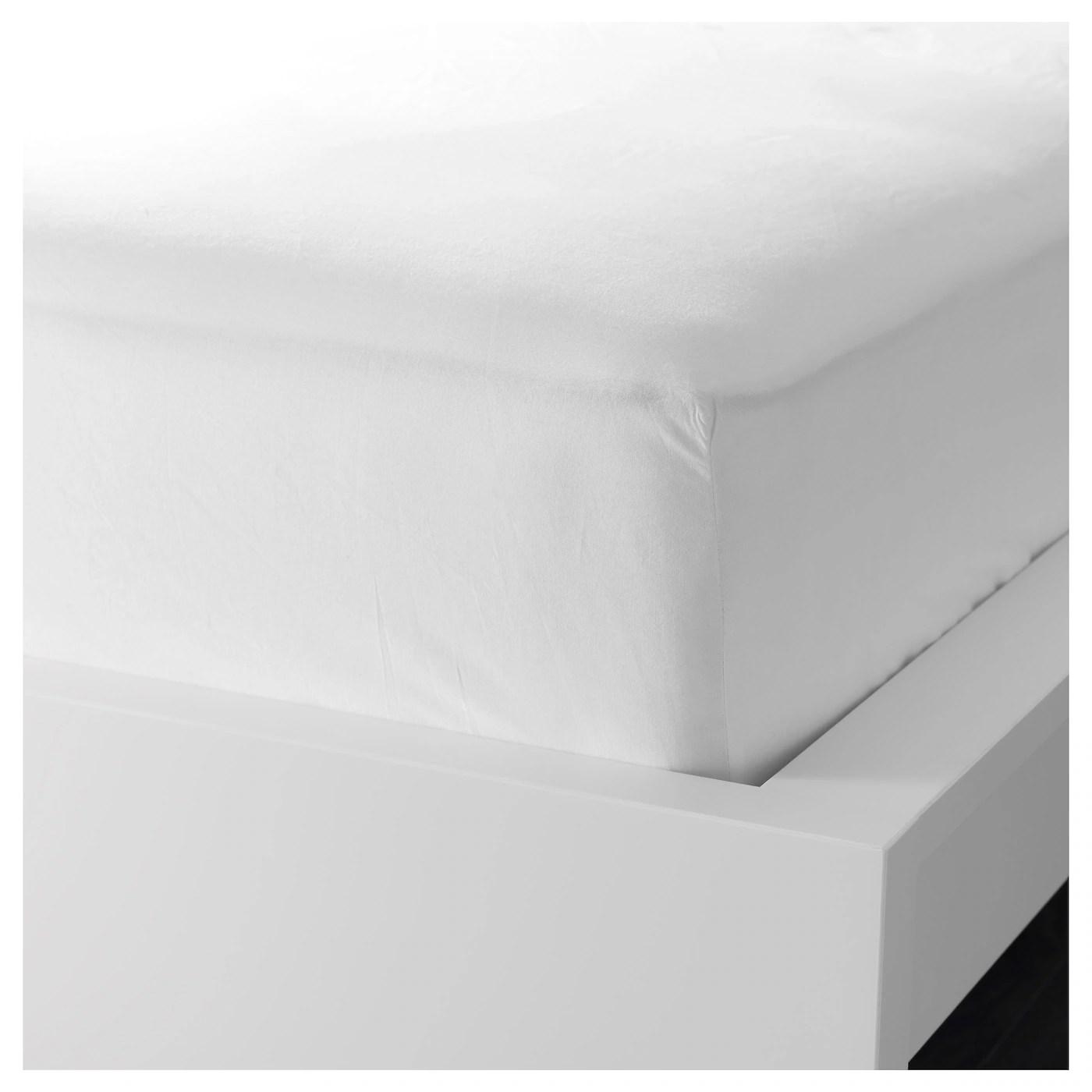 Fargmara Drap Housse Blanc 90x200 Cm Materiau Durable Ikea