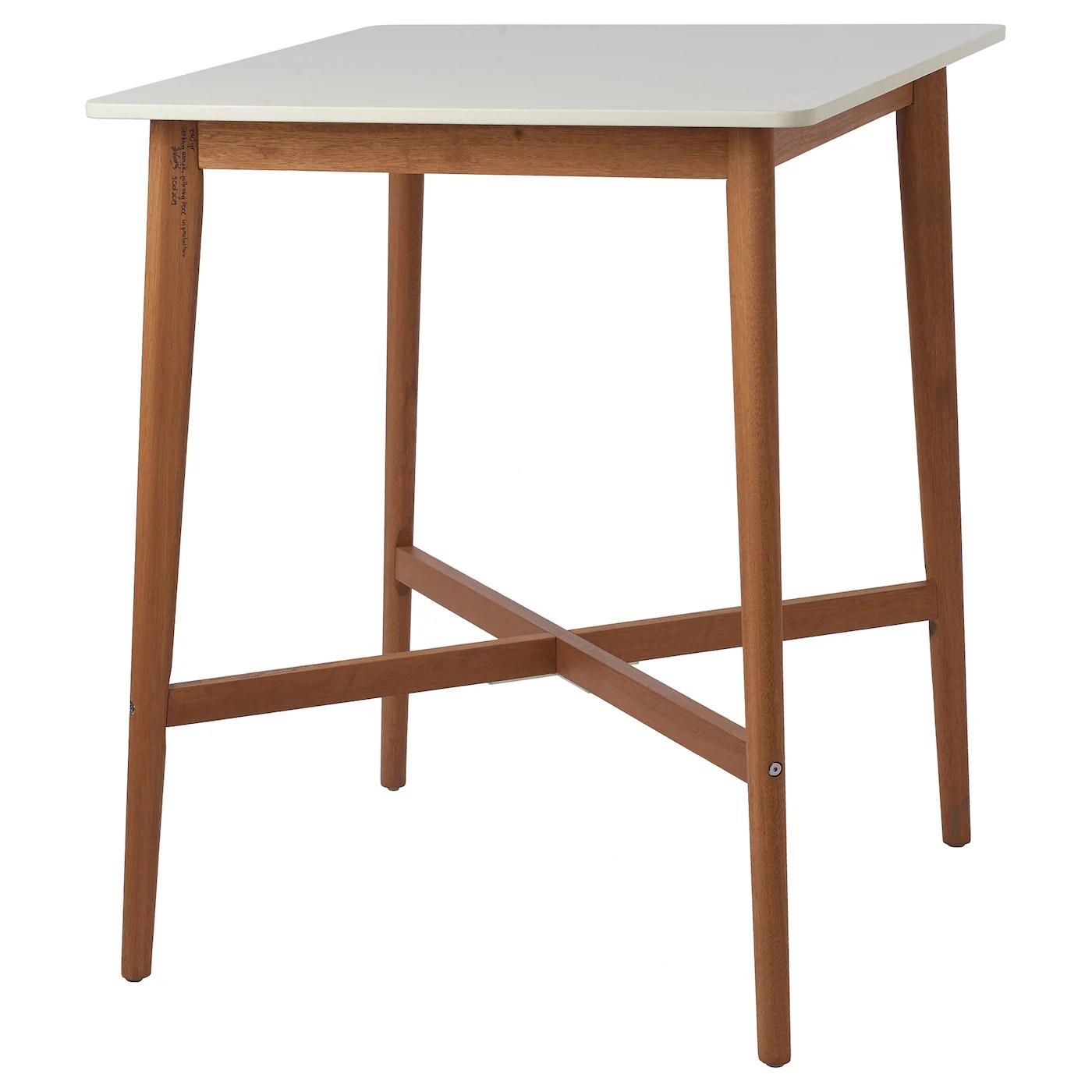 Fanbyn Table De Bar Blanc 75x75x95 Cm Ikea