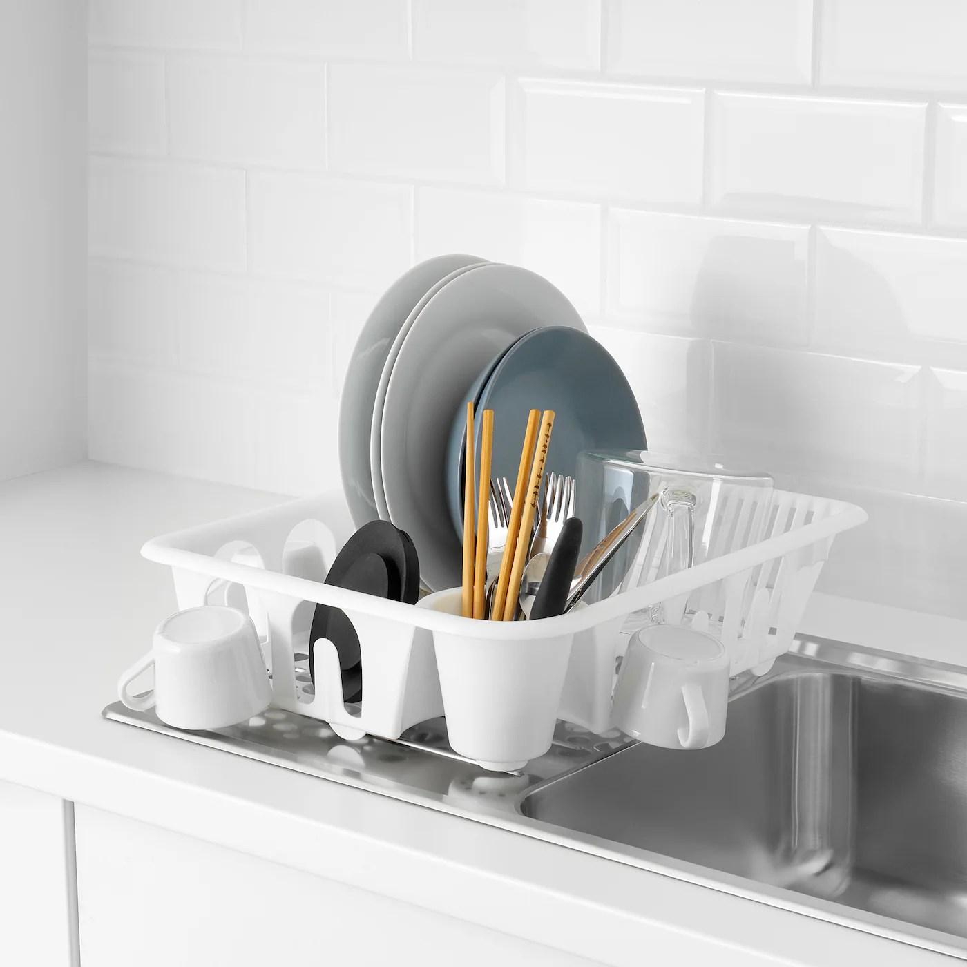 flundra egouttoir a vaisselle blanc