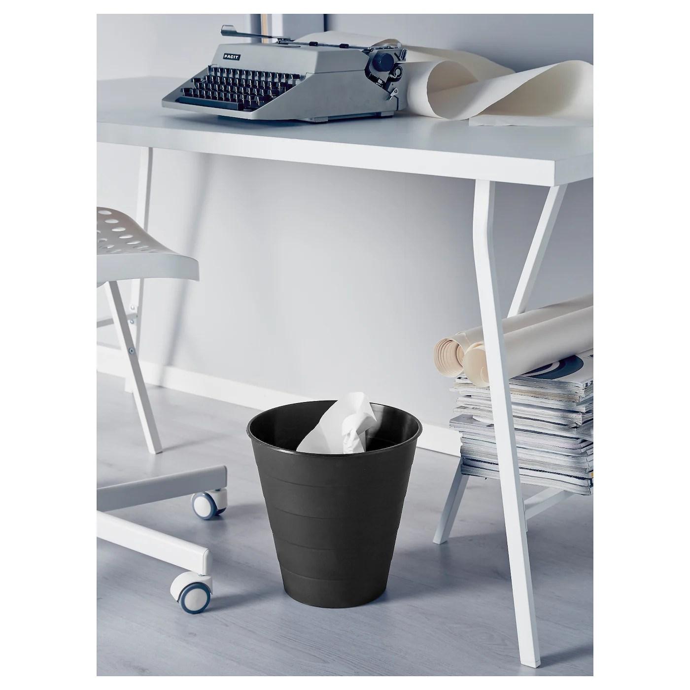 Fniss Poubelle Noir 10 L Ikea