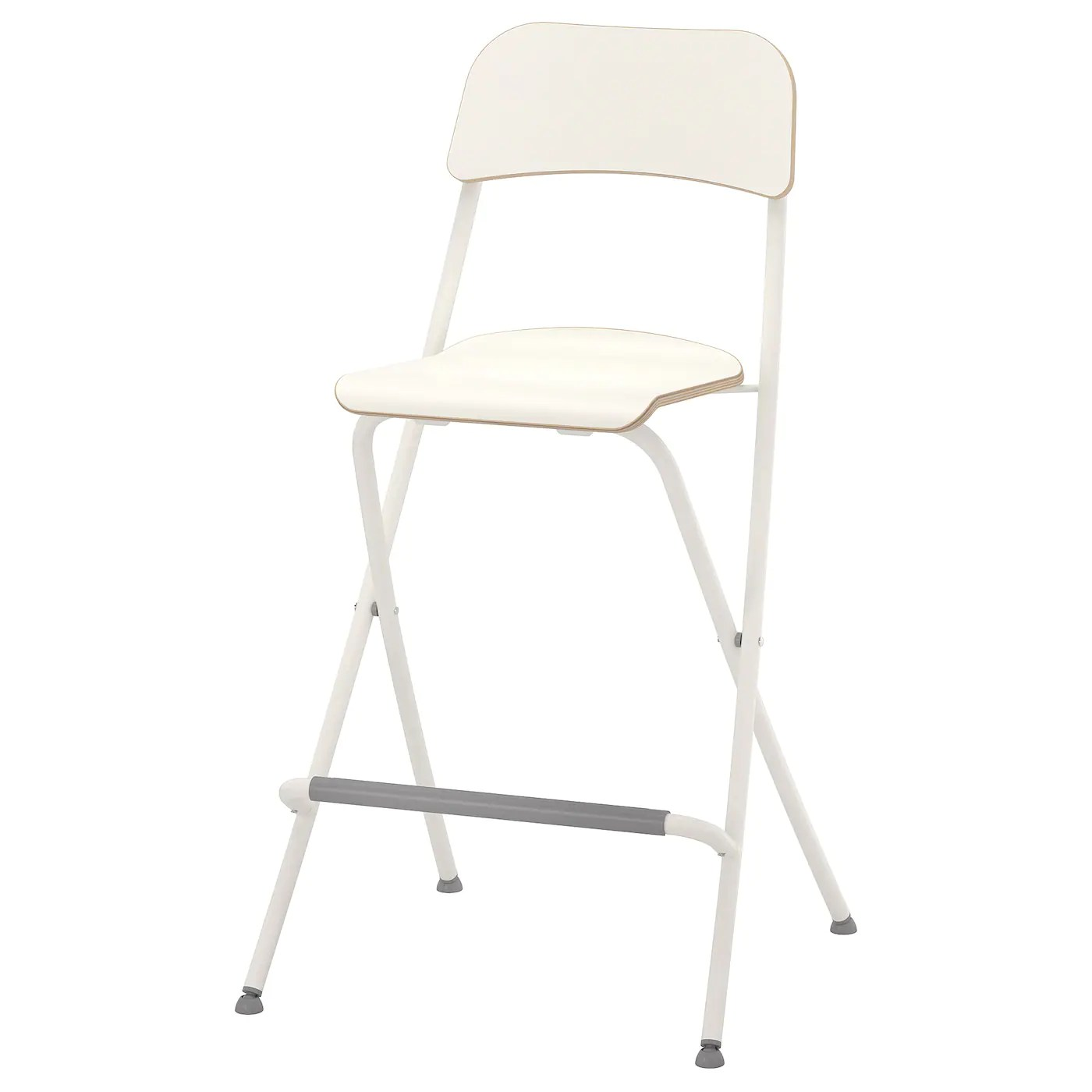 franklin chaise de bar pliante blanc blanc 63 cm