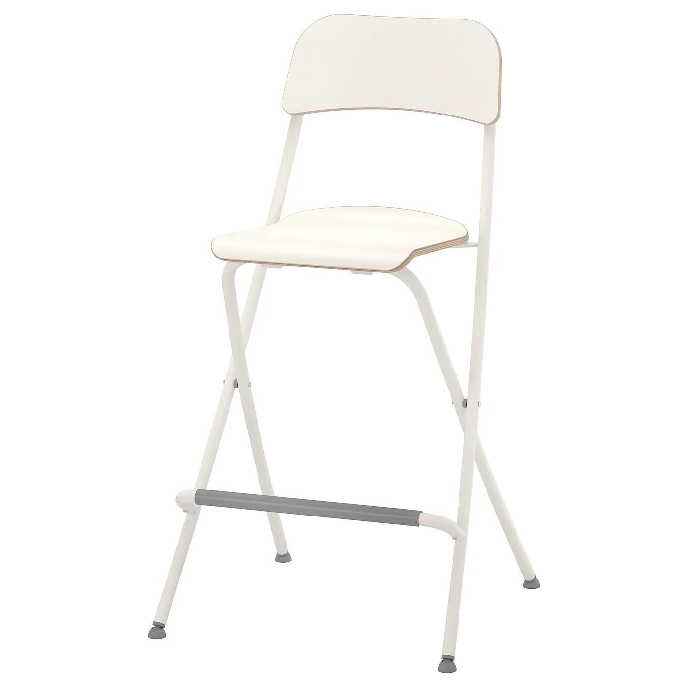 Franklin Chaise De Bar Pliante Blanc Blanc 63 Cm Ikea