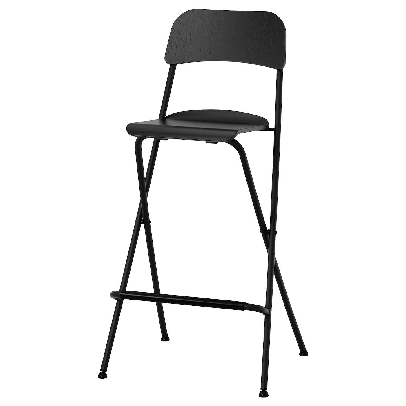 Franklin Chaise De Bar Pliante Noir Noir 74 Cm Ikea