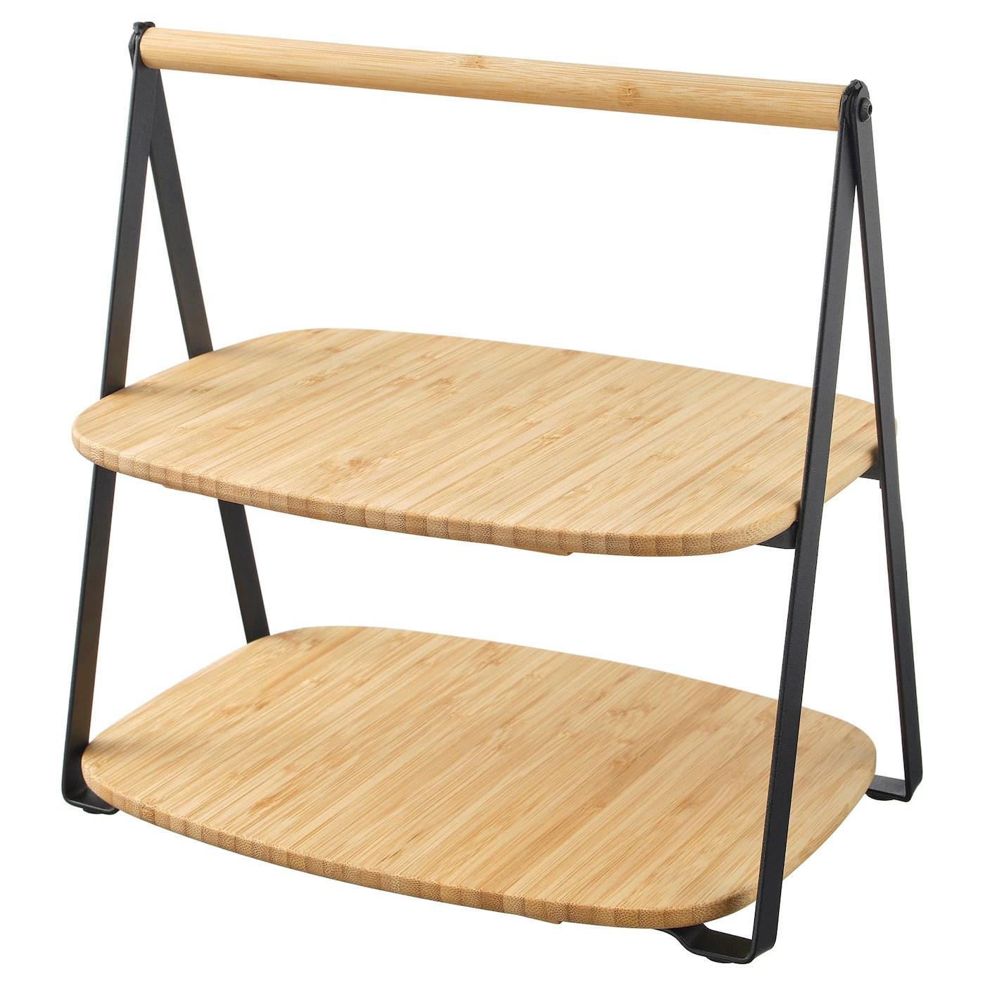 Fullspackad Plateau Bambou Noir Materiau Durable Ikea