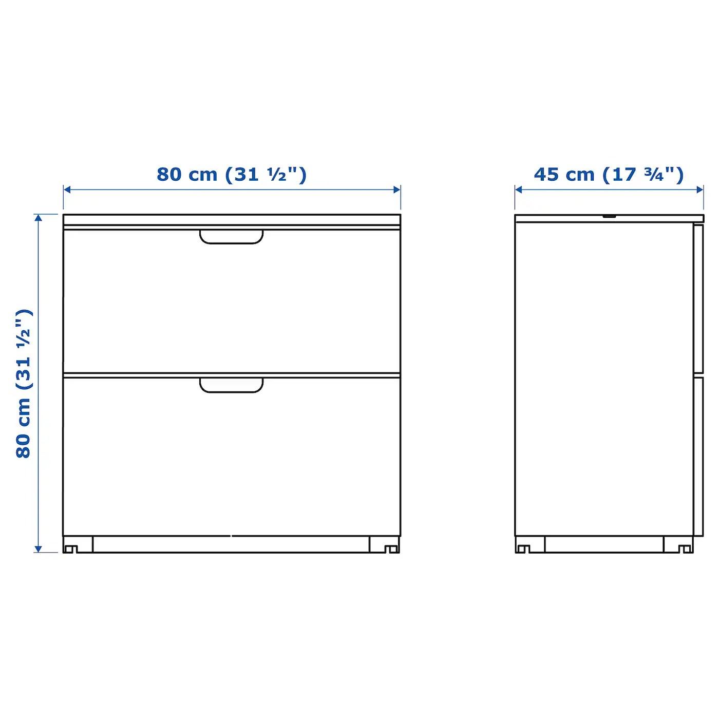 Galant Caisson A Dossiers Suspendus Blanc 80x80 Cm Ikea