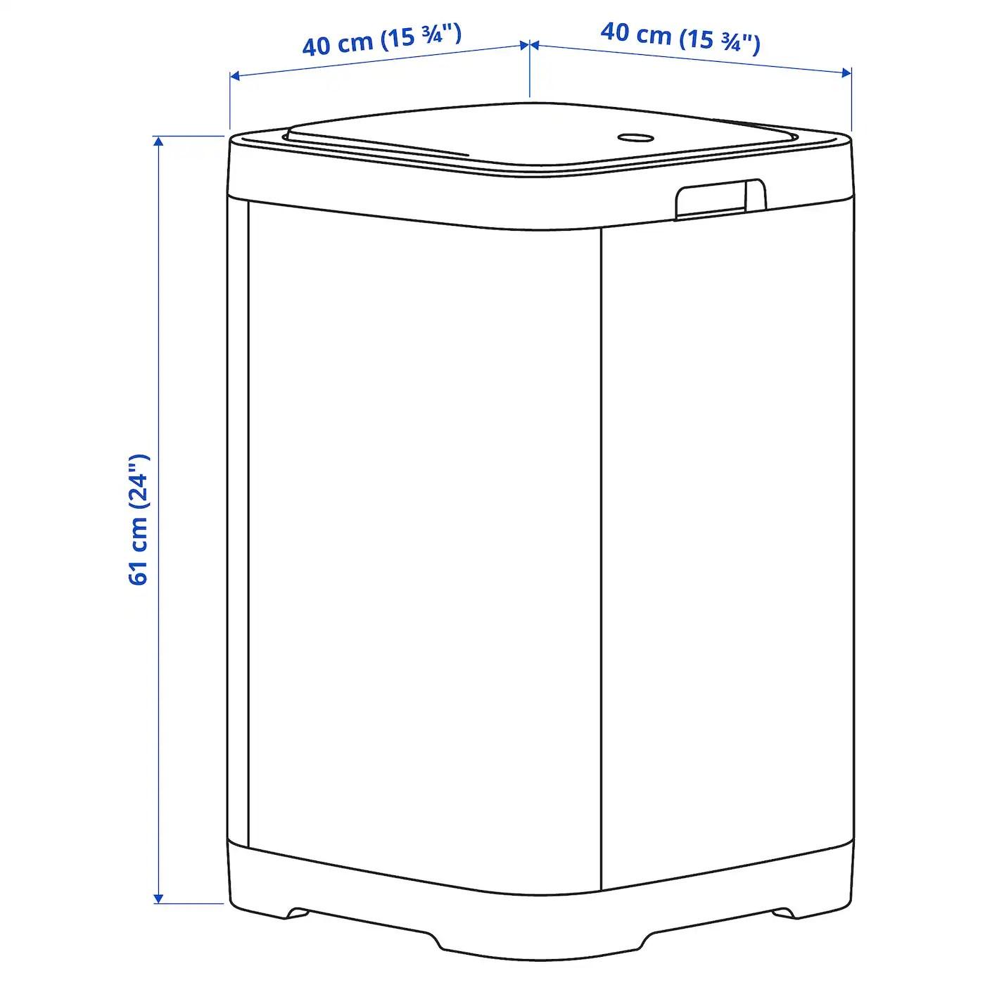 Gigantisk Poubelle Ouverture A Pression Gris Fonce 60 L Ikea