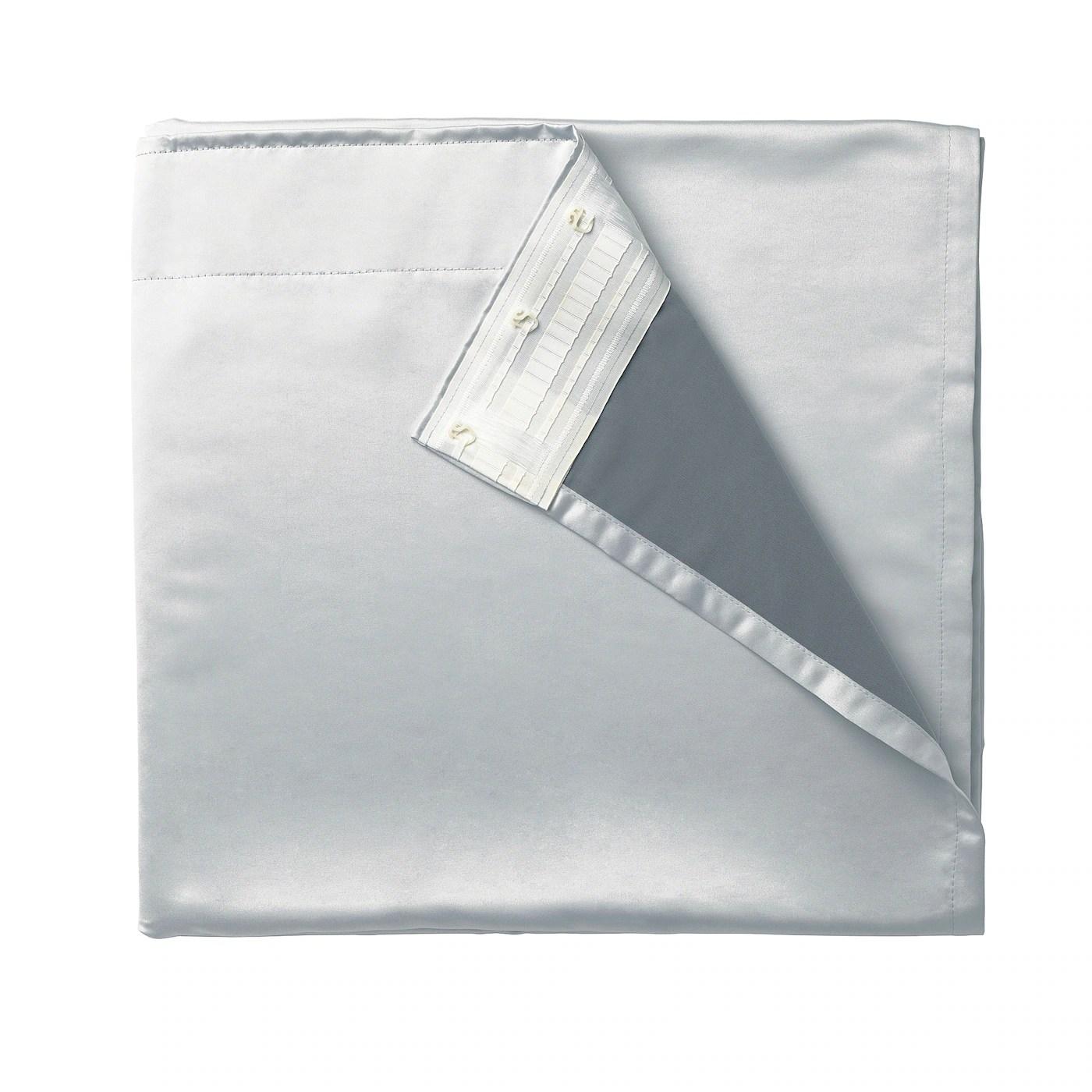 glansnava rideau 2 pieces gris clair 143x290 cm