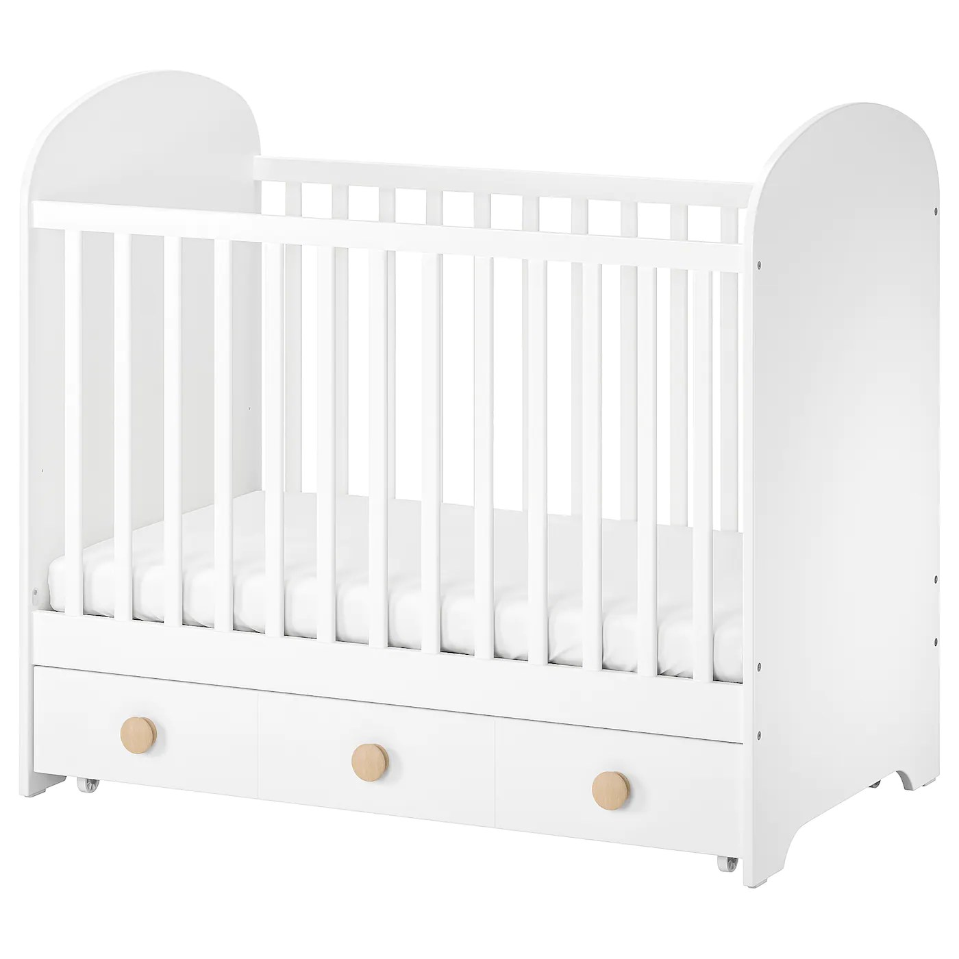 Gonatt Lit Bebe Avec Tiroir Blanc 60x120 Cm Ikea