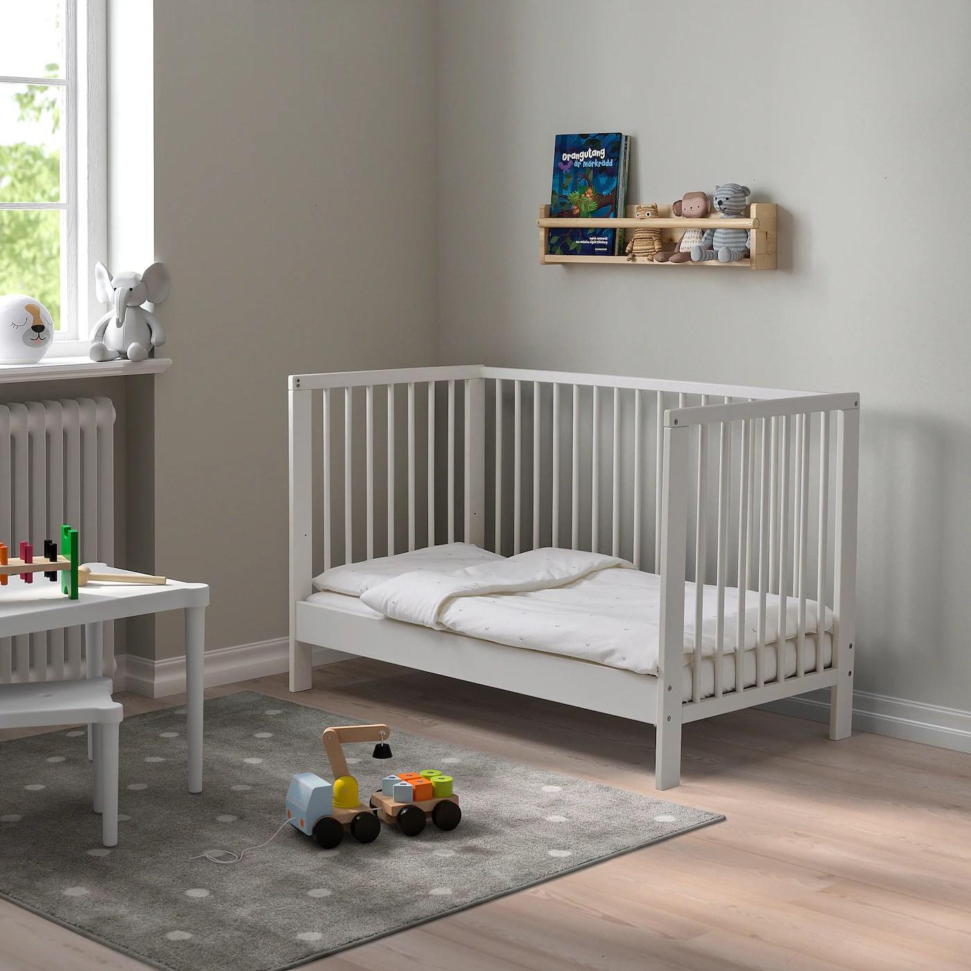 Gulliver Lit Bebe Blanc 60x120 Cm Materiau Durable Ikea