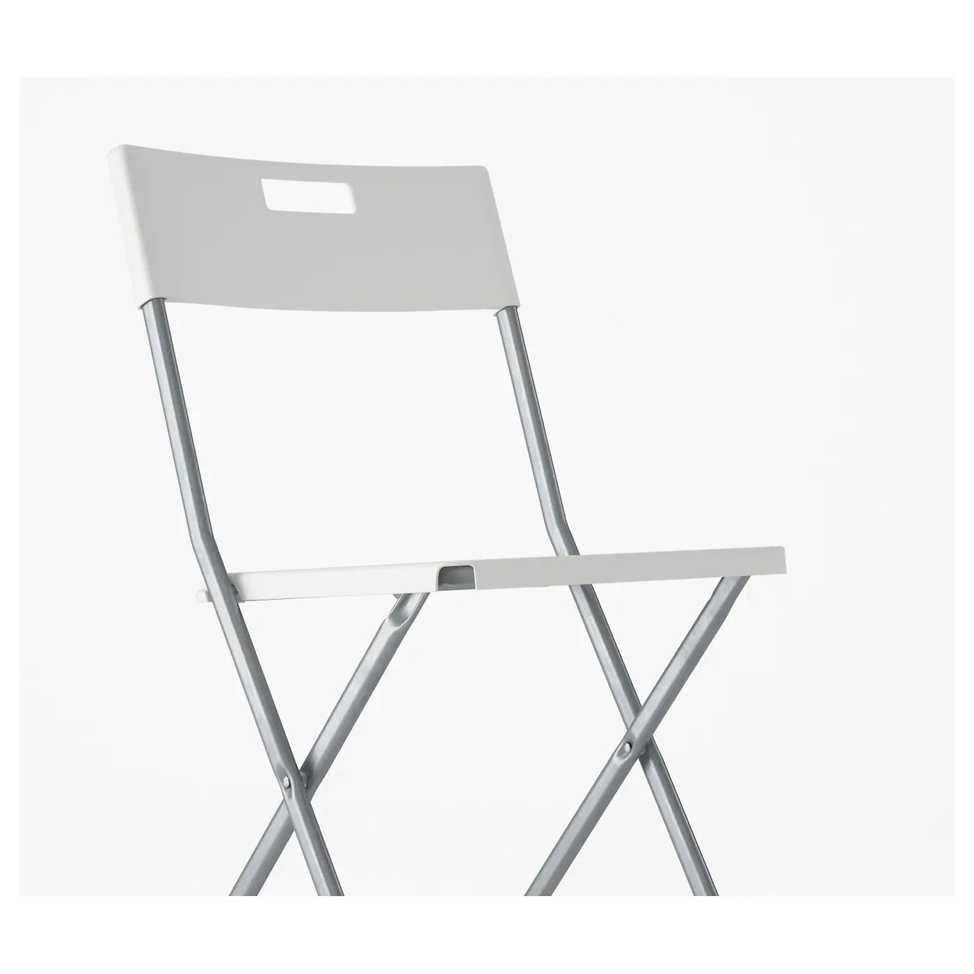 Gunde Chaise Pliante Blanc Ikea