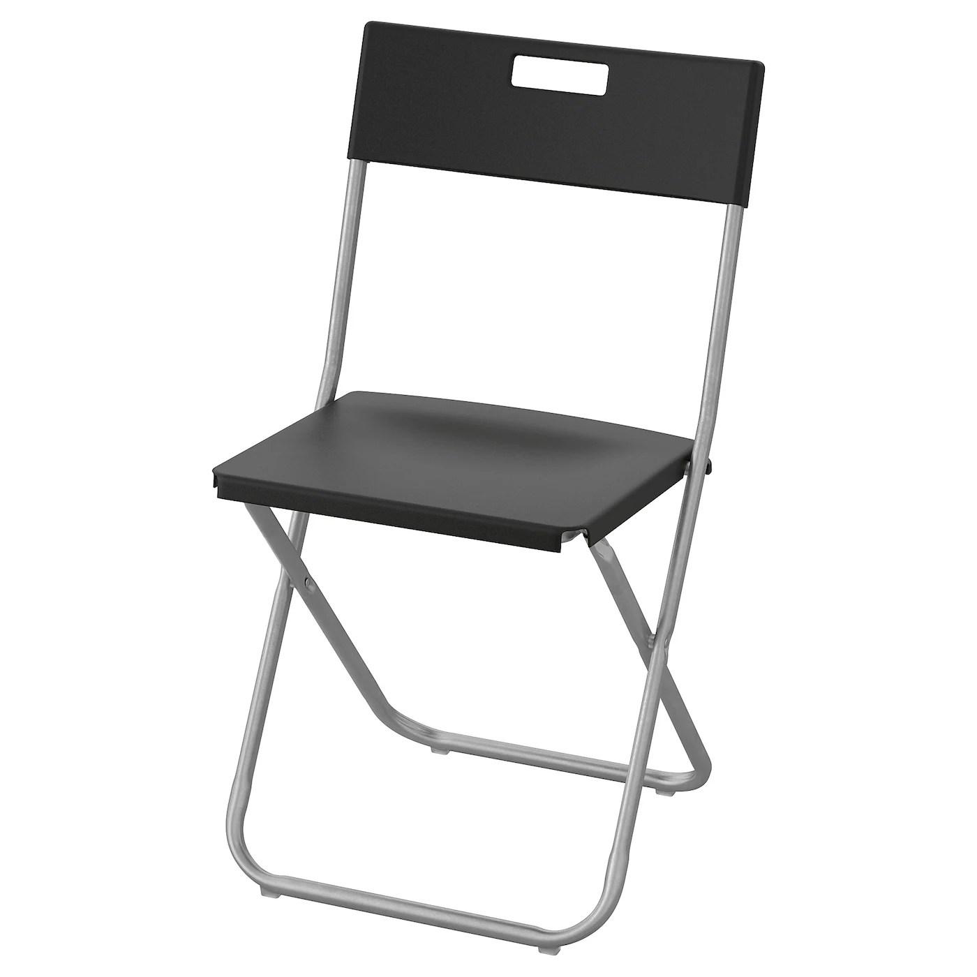 Gunde Chaise Pliante Noir Ikea