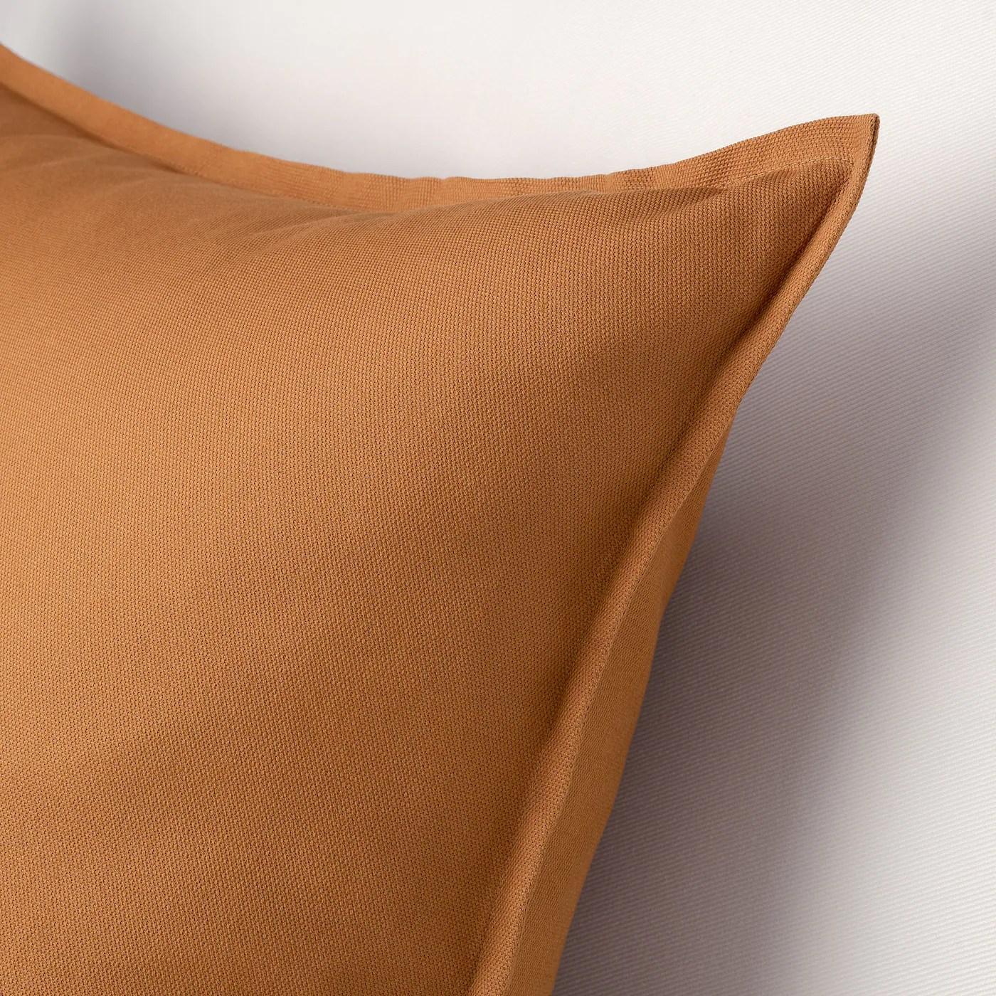 Gurli Housse De Coussin Brun Jaune 50x50 Cm Ikea