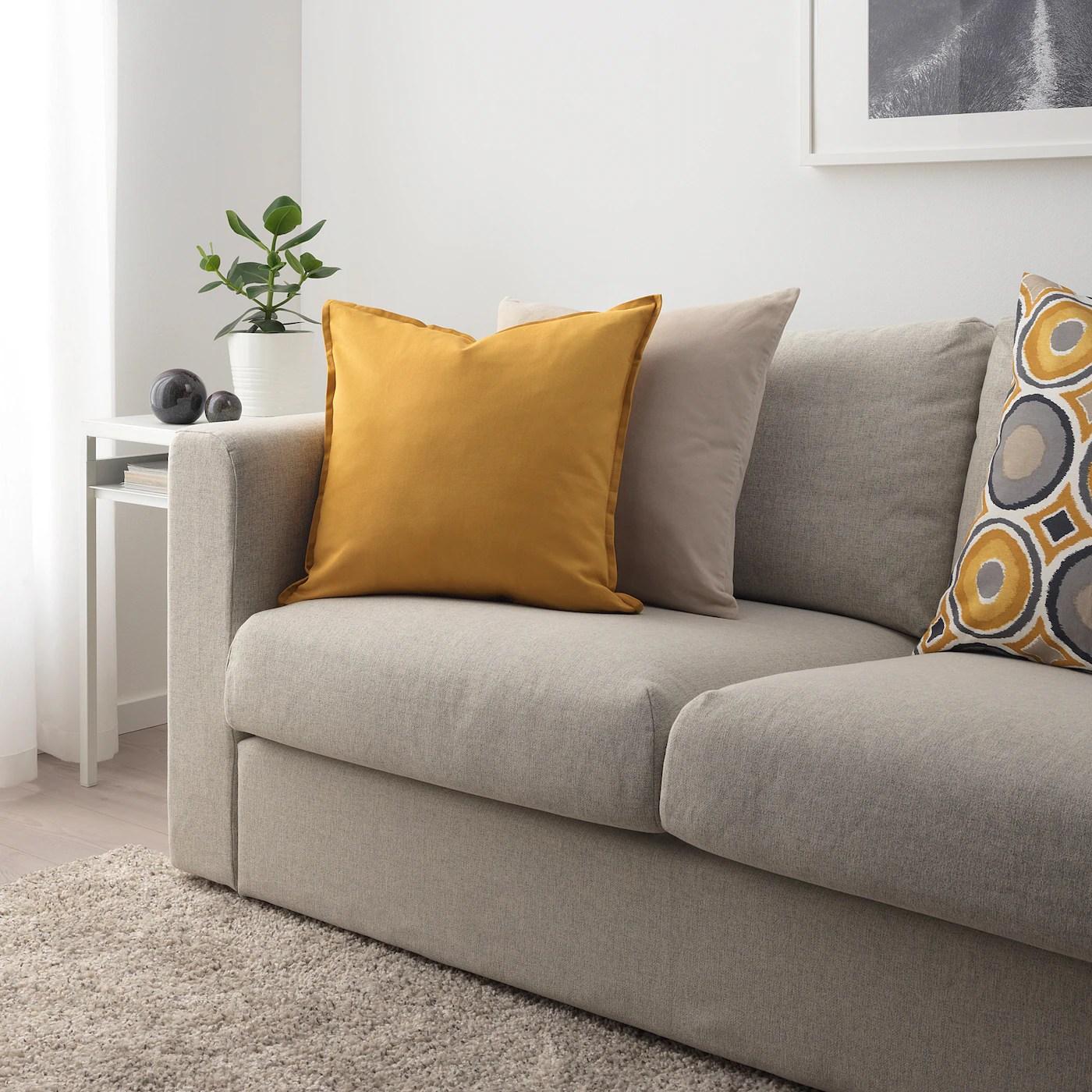Gurli Housse De Coussin Jaune Dore 50x50 Cm Ikea