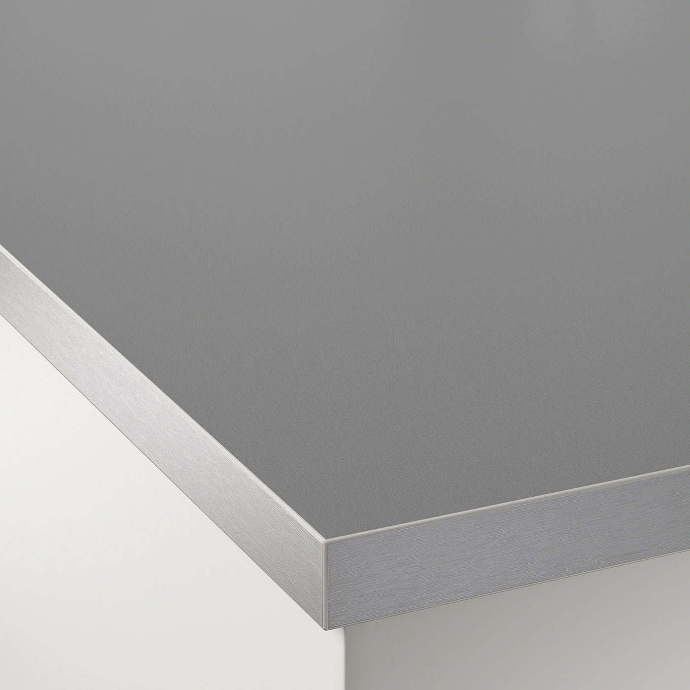 Hallestad Plan De Travail Double Face Blanc Motif Aluminium Chant Effet Metal Motif Aluminium Av Chant Effet Metal Stratifie 186x3 Ikea