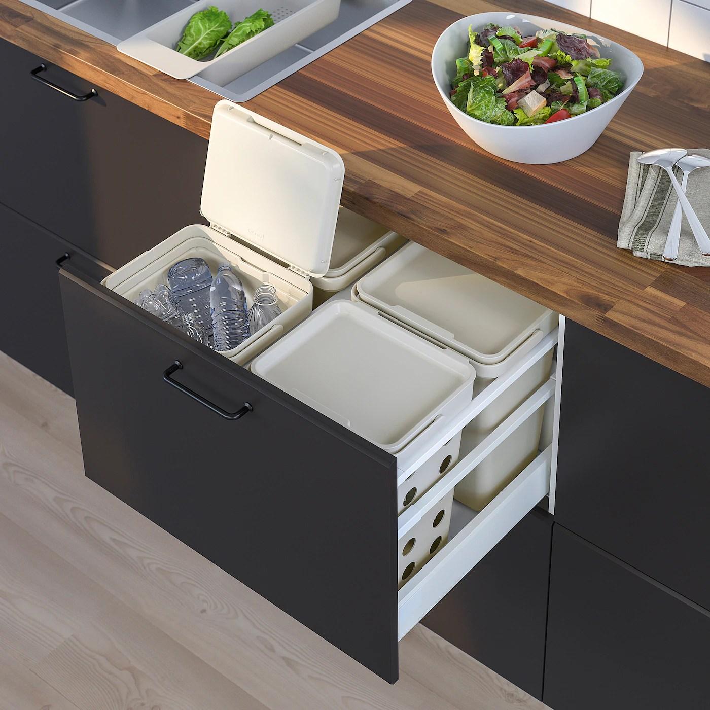 Hallbar Support Pour Poubelle De Tri Blanc 60 Cm Ikea