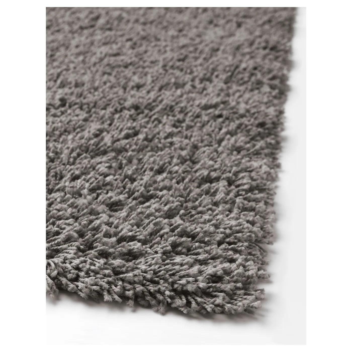 hampen tapis poils hauts gris 133x195 cm