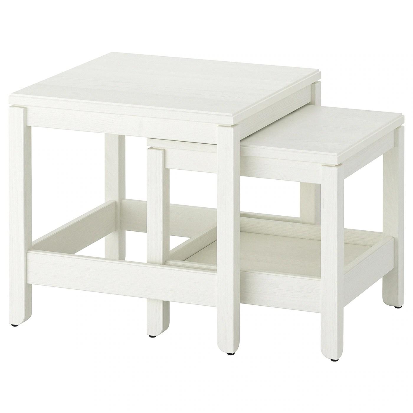 havsta tables gigognes lot de 2 blanc