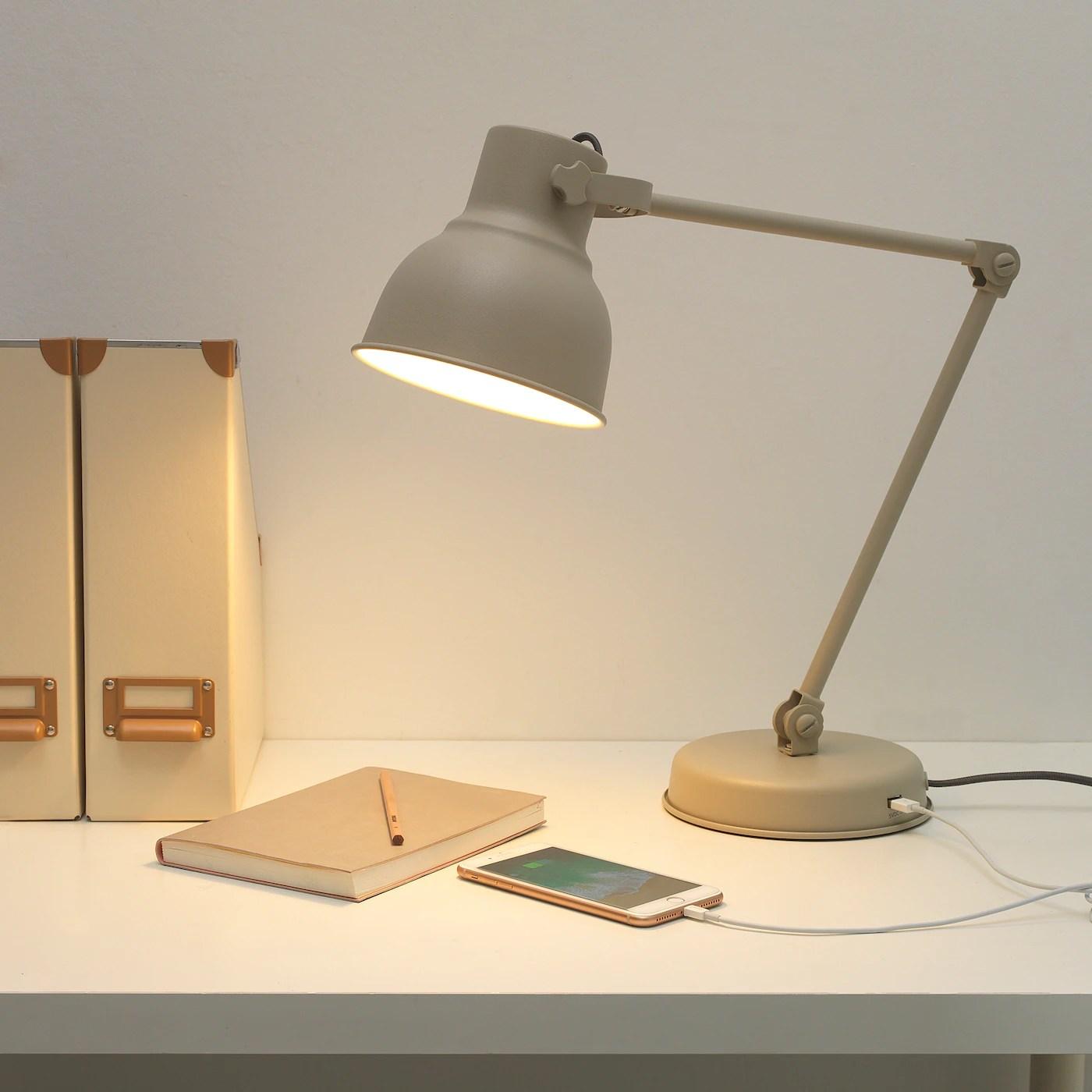 HEKTAR Lampe de bureau   beige   IKEA