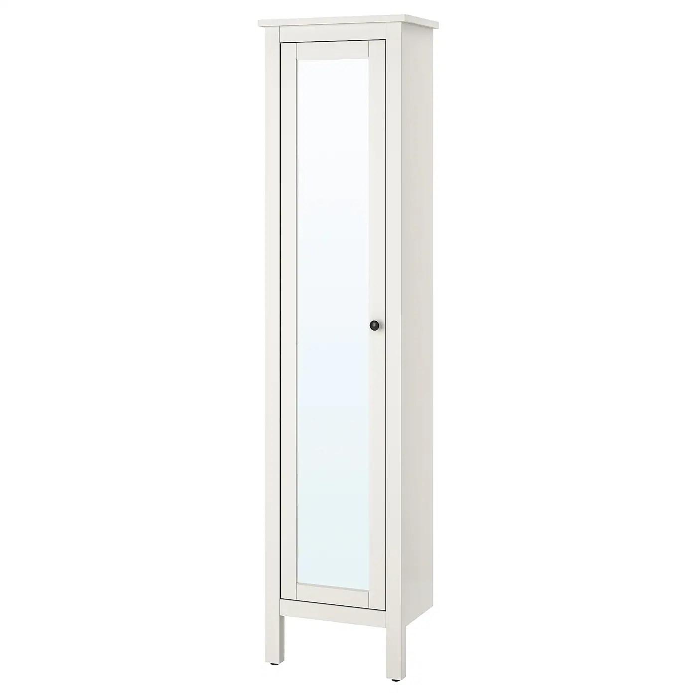 Hemnes Colonne Avec Porte Miroir Blanc 49x31x200 Cm Ikea