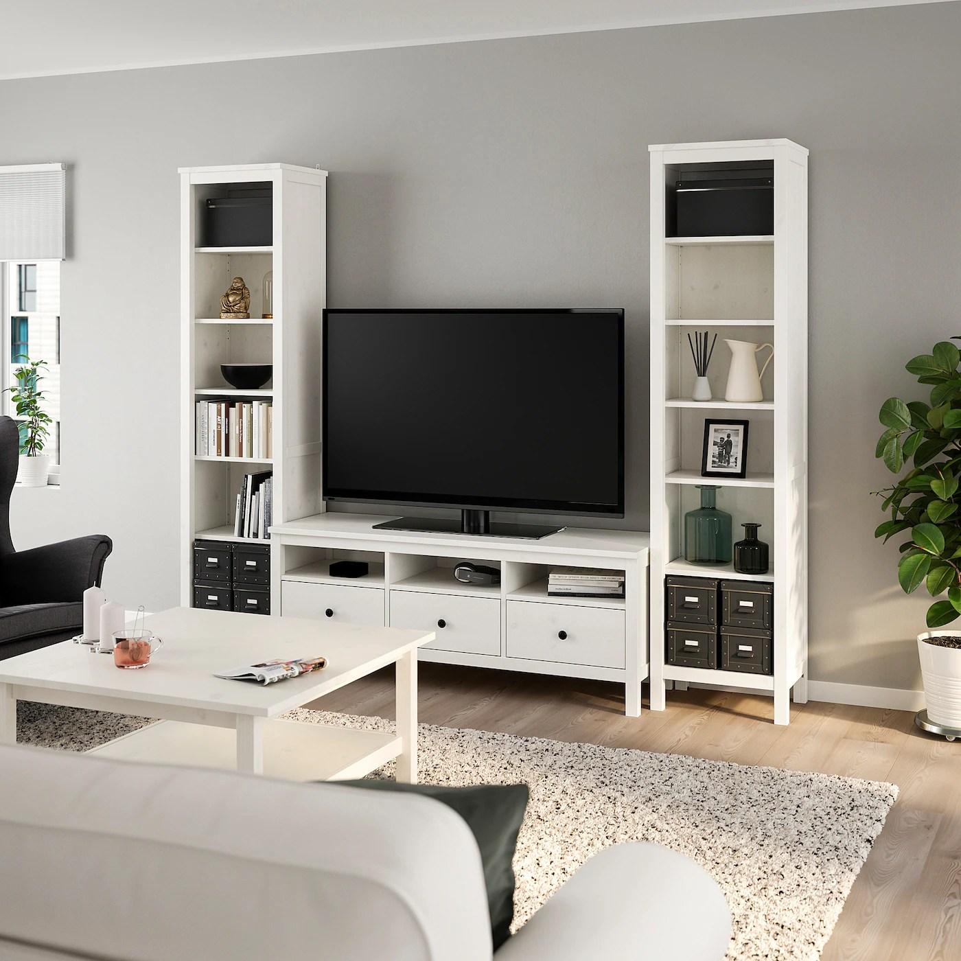 Hemnes Combinaison Meuble Tv Teinte Blanc 245x197 Cm Ikea