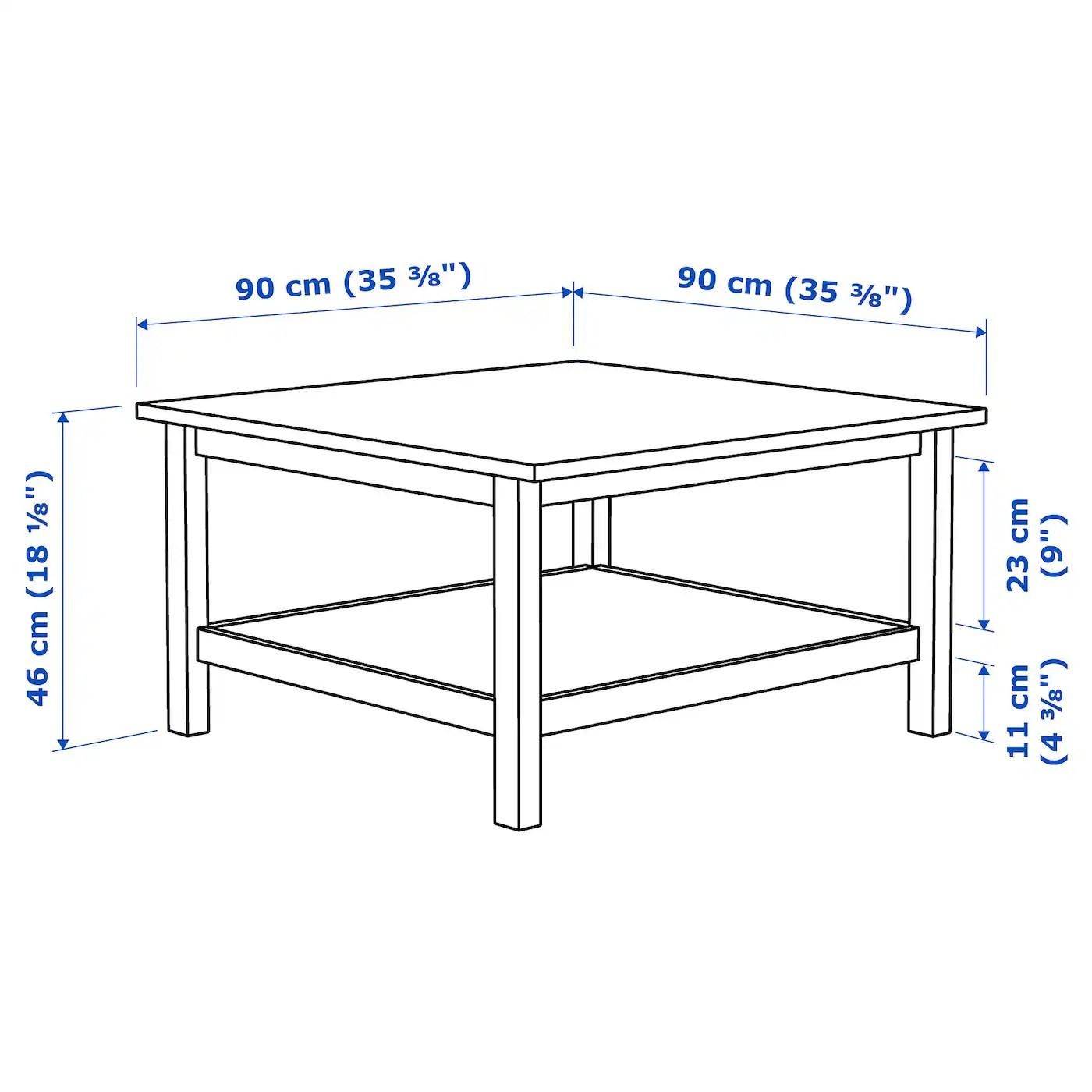 Hemnes Table Basse Blanc Teinte Blanc 90x90 Cm Ikea