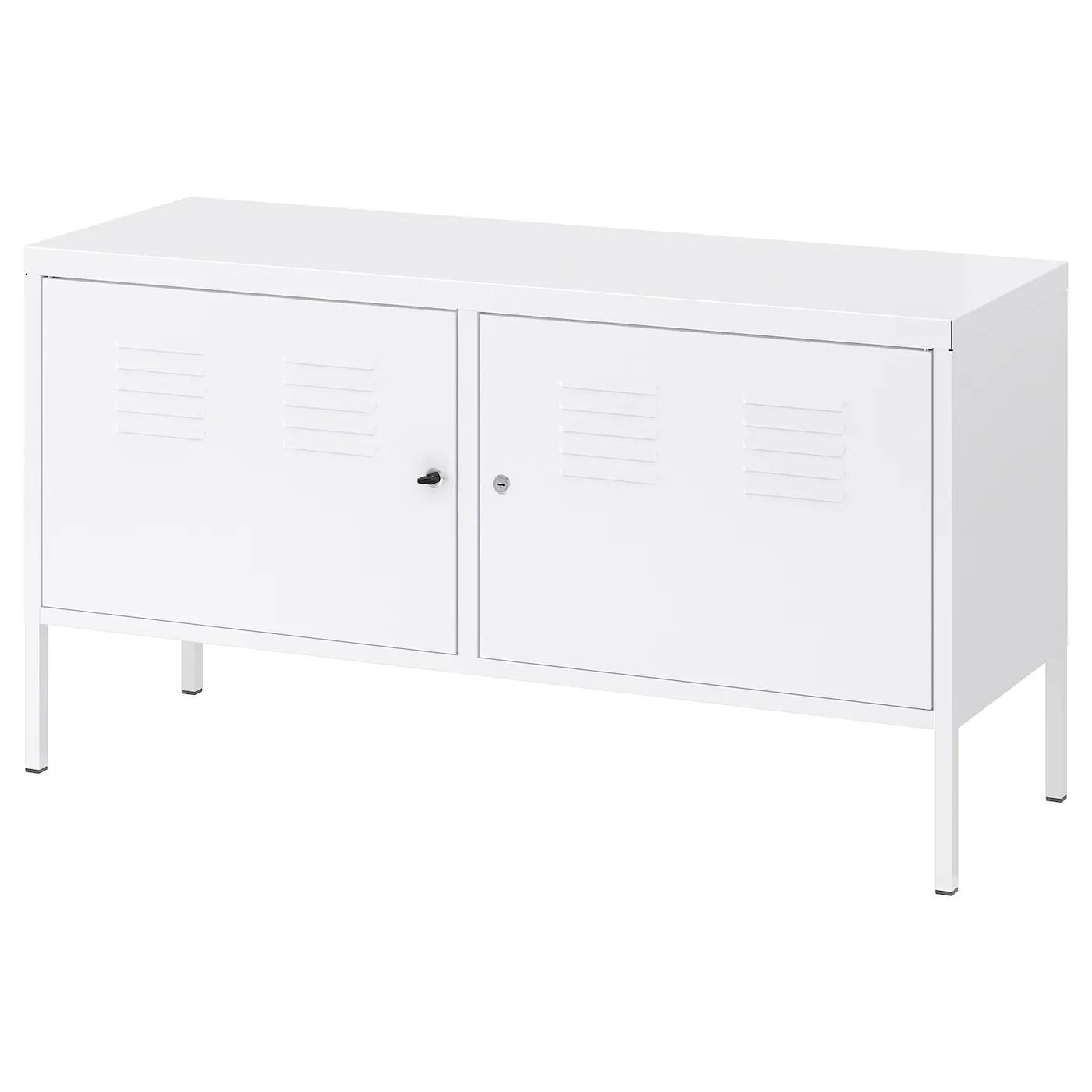 ikea ps armoire metallique blanc 119x63 cm