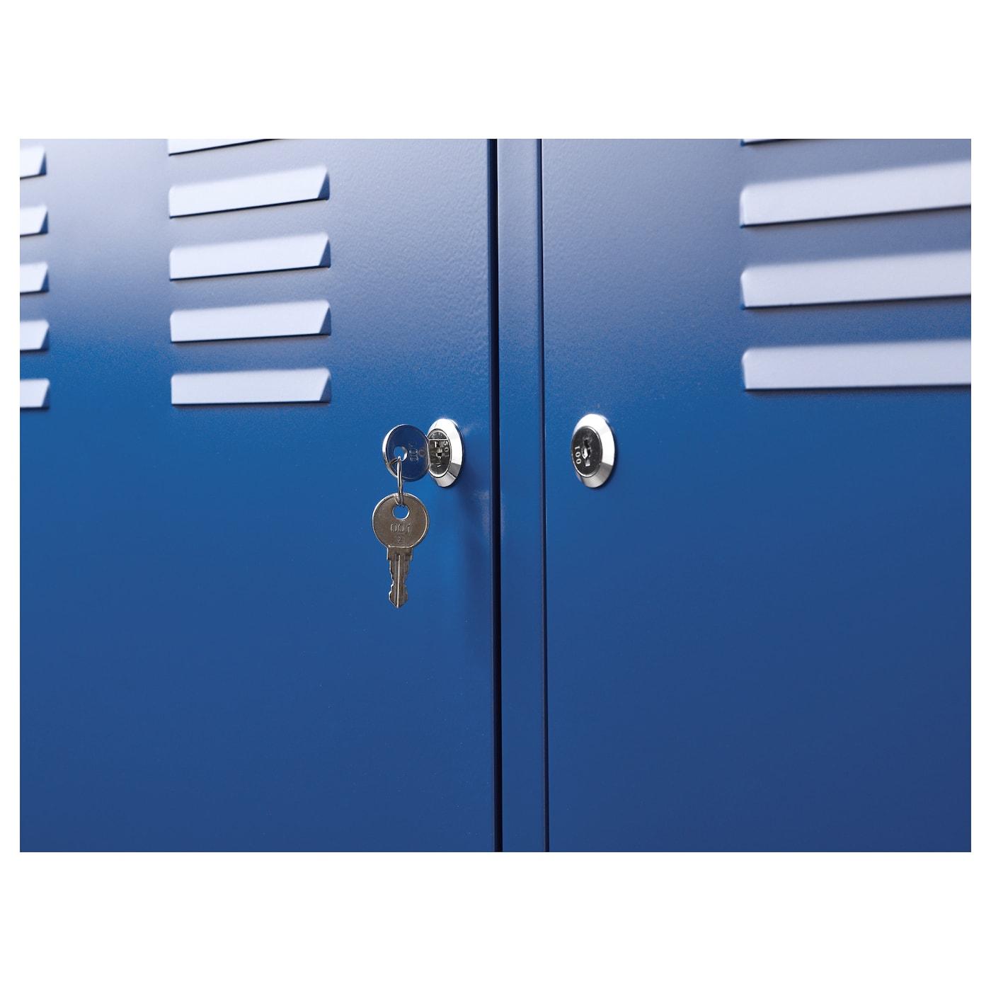 Ikea Ps Armoire Metallique Bleu 119x63 Cm Ikea
