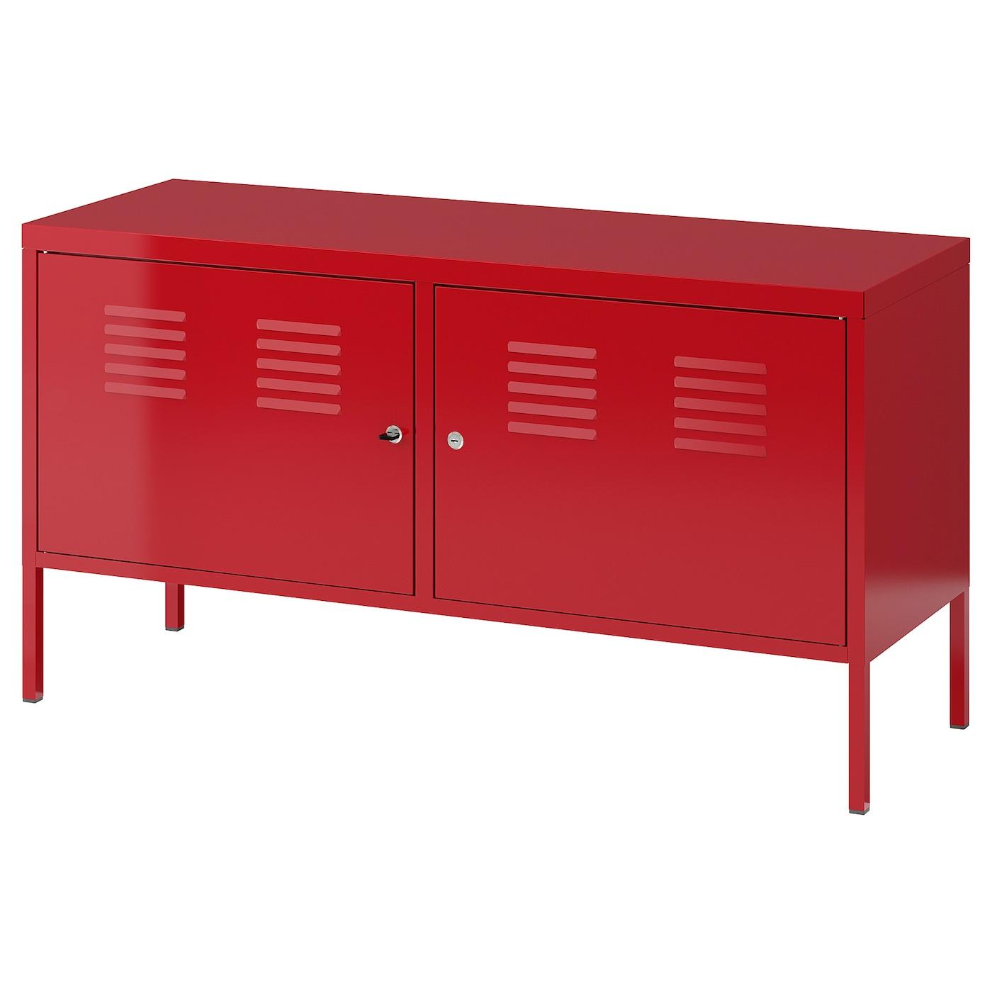 Ikea Ps Armoire Metallique Rouge 119x63 Cm Ikea