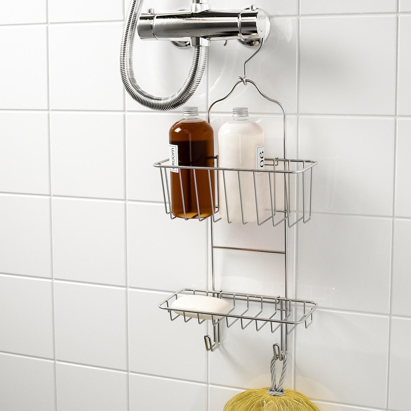 immeln porte savon pr douche 2 etages galvanise 24x53 cm