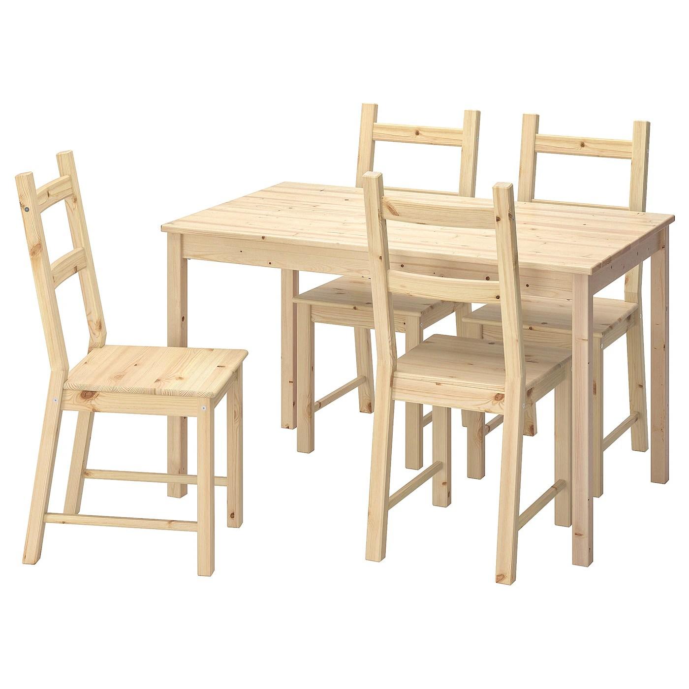 ingo ivar table et 4 chaises pin 120 cm