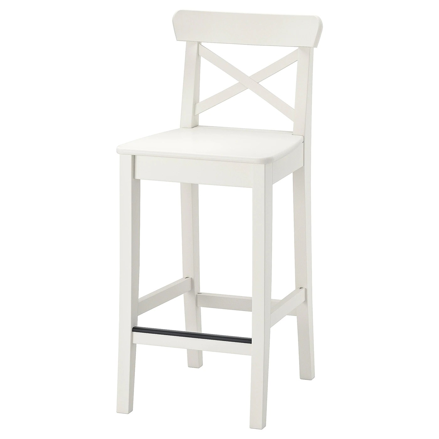Ingolf Chaise De Bar Blanc 63 Cm Materiau Durable Ikea