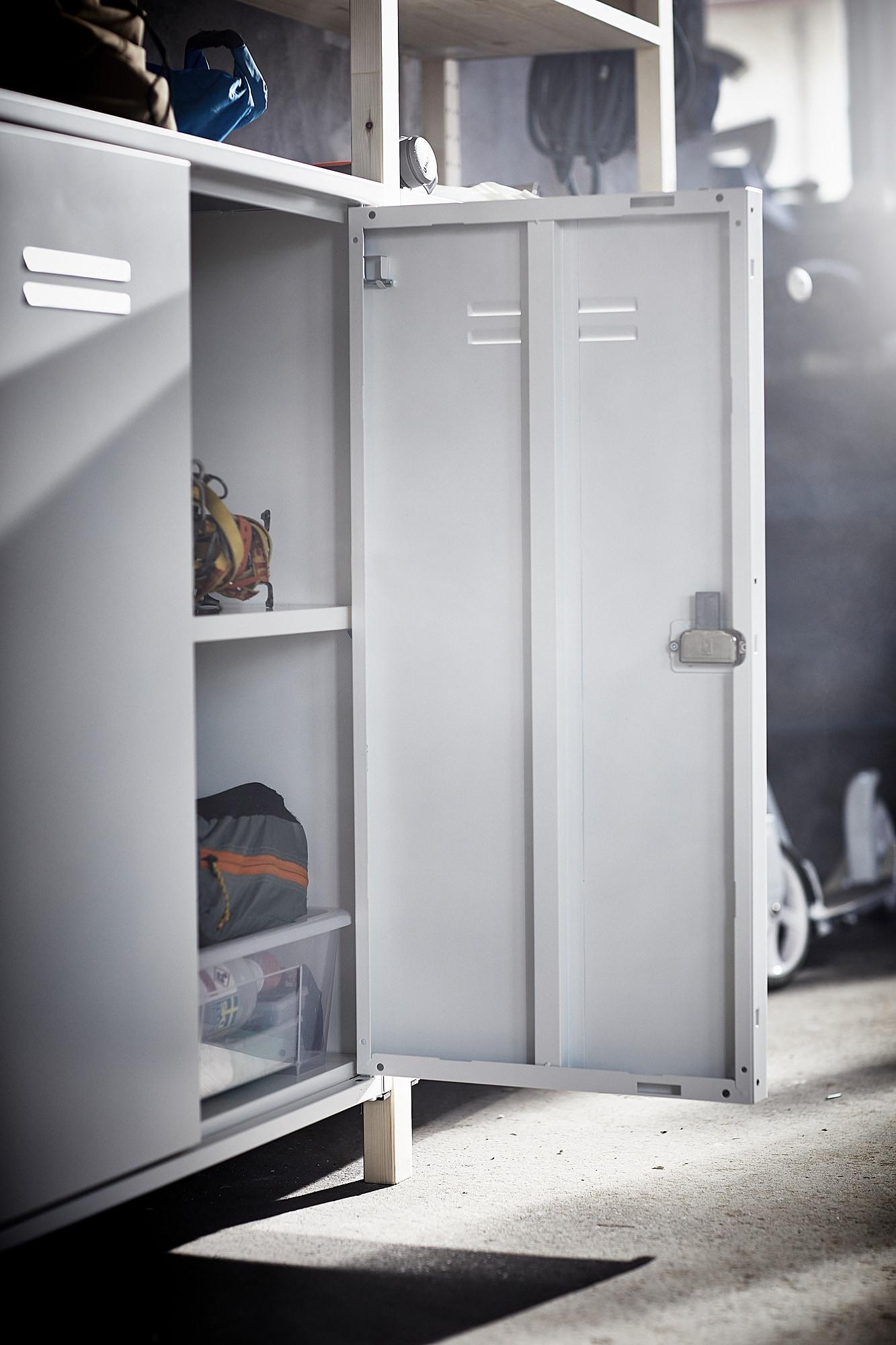 Ivar Armoire Avec Portes Blanc Ikea