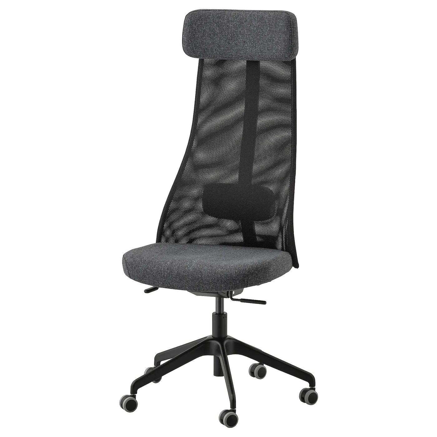 Jarvfjallet Chaise De Bureau Gunnared Gris Fonce Ikea