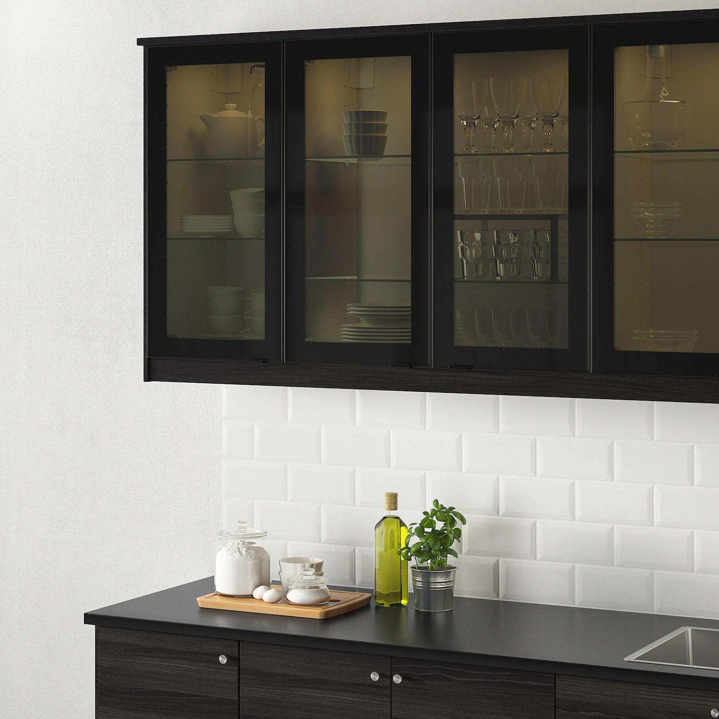 jutis porte vitree verre fume noir 40x60 cm