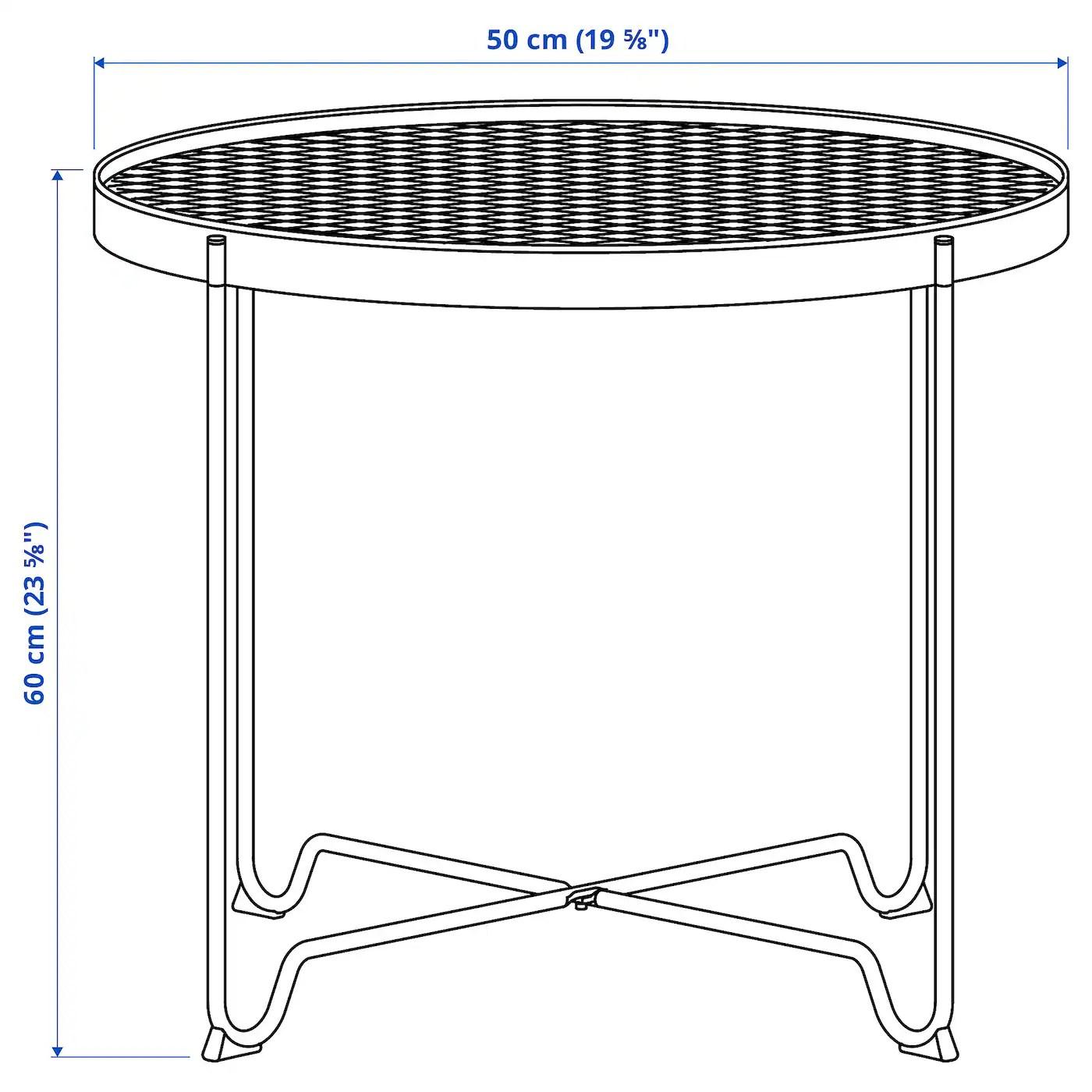krokholmen table d appoint exterieur beige 50 cm