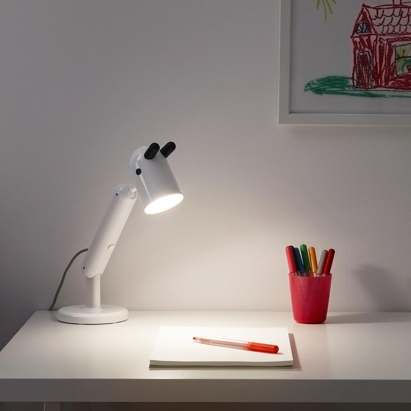 krux lampe de bureau a led blanc
