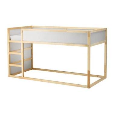 diy transformer le lit kura d 39 ikea sous une etoile. Black Bedroom Furniture Sets. Home Design Ideas