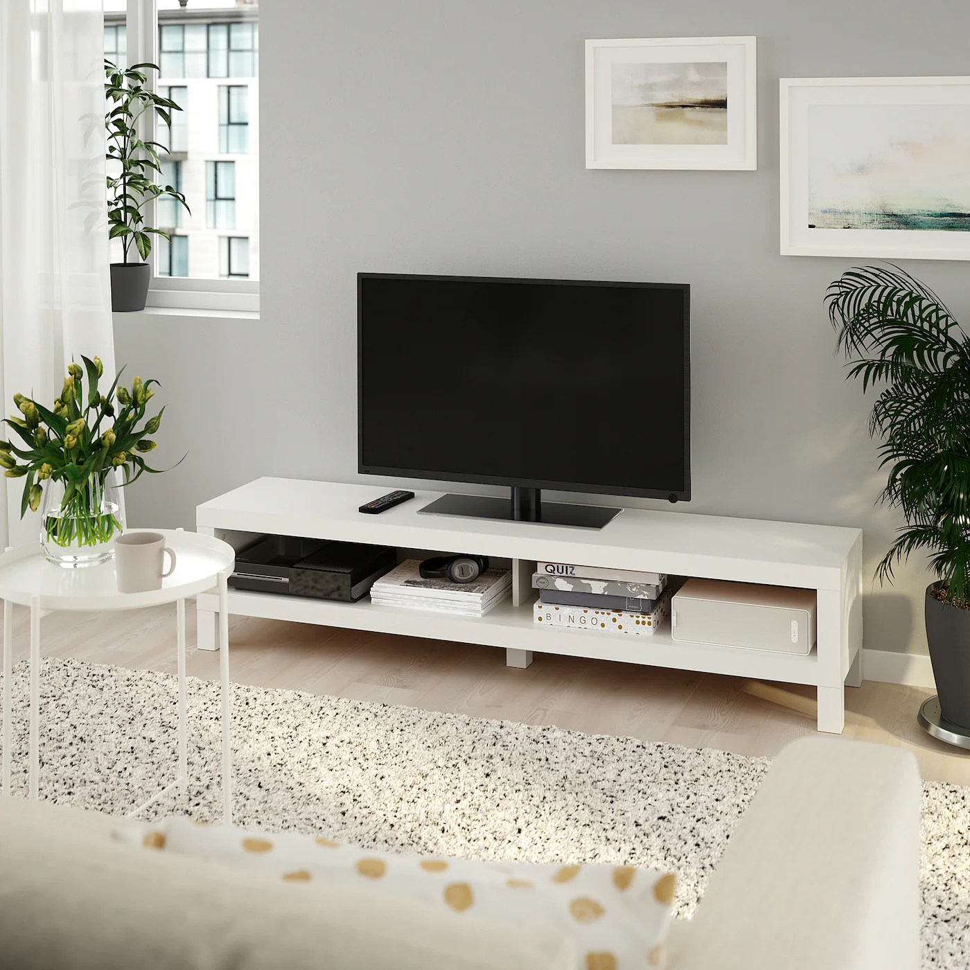Lack Banc Tv Blanc 160x35x36 Cm Ikea