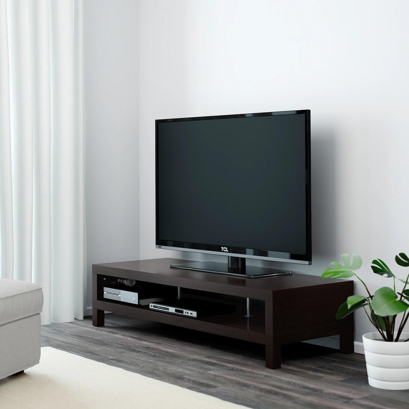 lack banc tv brun noir 149x55x35 cm