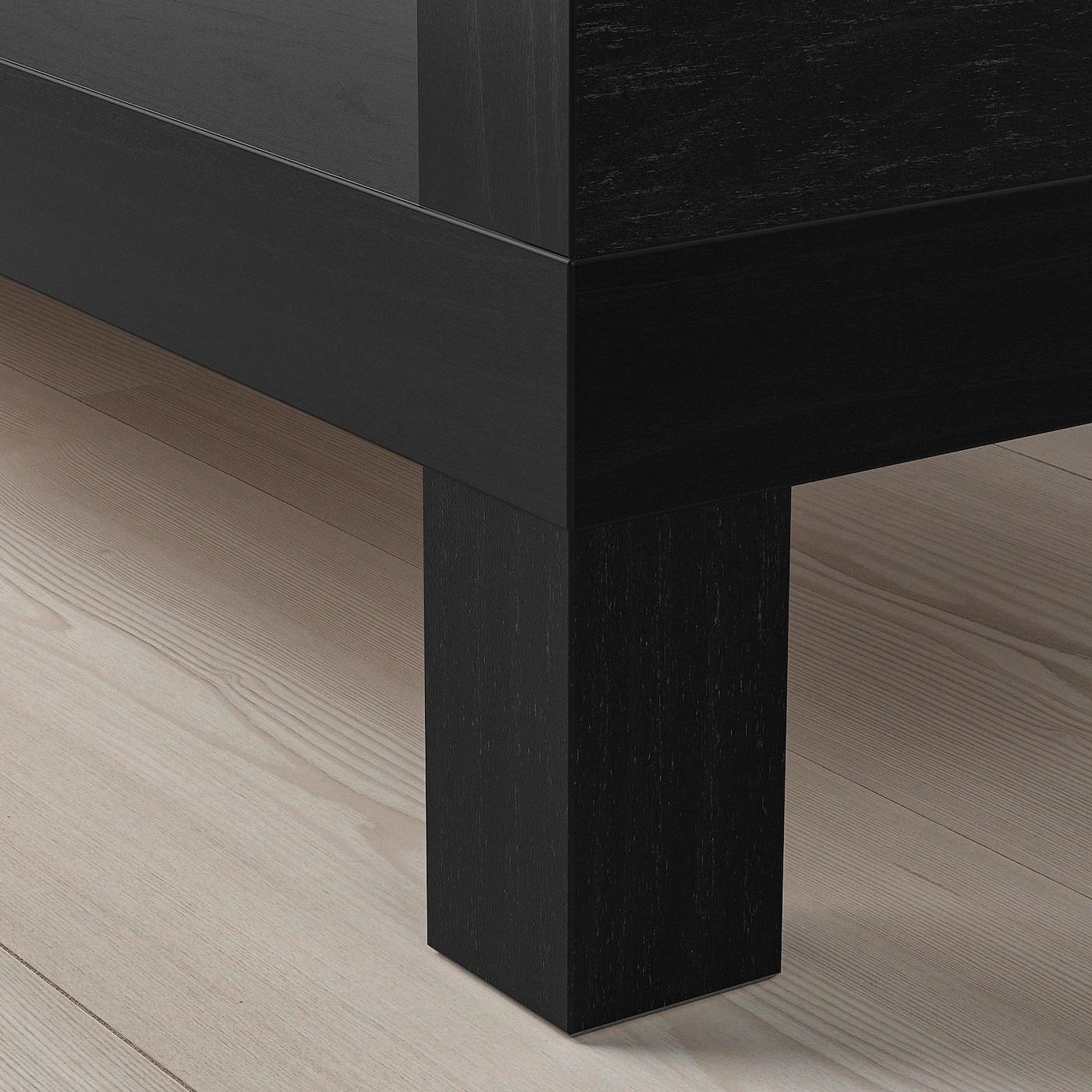 Lack Banc Tv Brun Noir 120x35x36 Cm Ikea