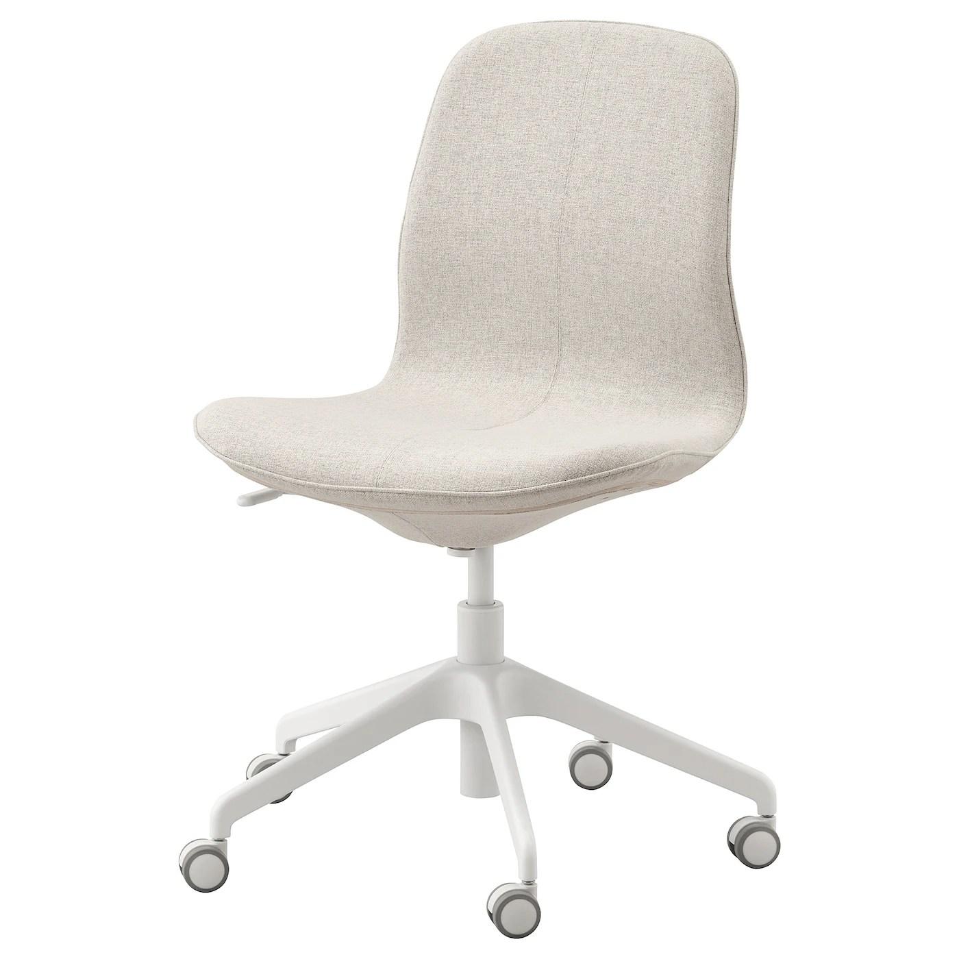 Langfjall Chaise De Bureau Gunnared Beige Blanc Pas Cher Ikea Ikea