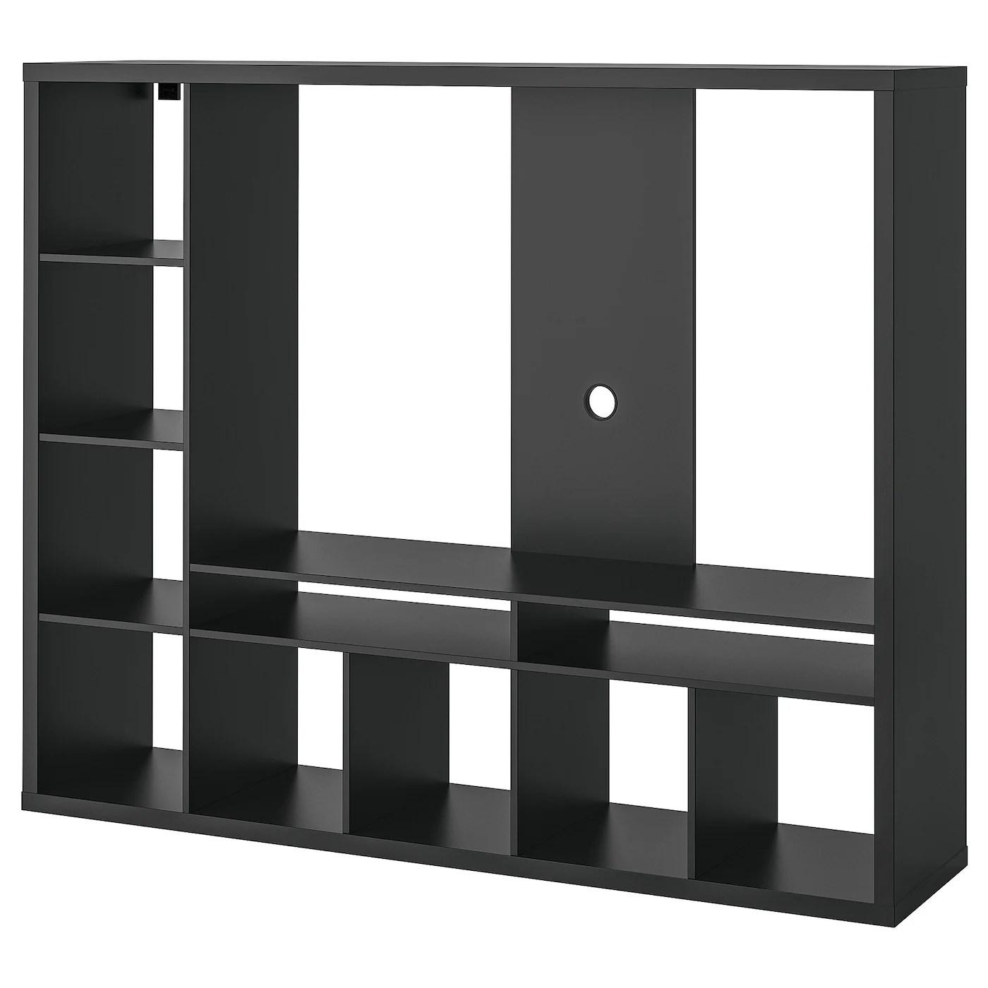 lappland meuble tv brun noir 183x39x147 cm