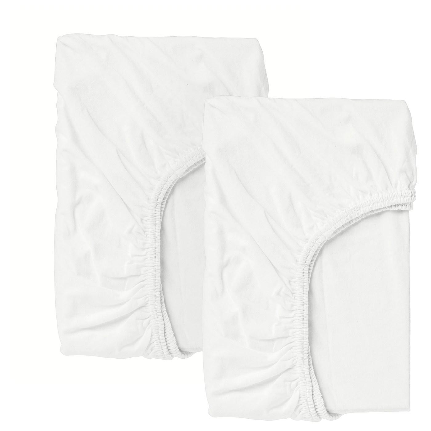 Len Drap Housse Pour Lit Bebe Blanc 60x120 Cm Ikea