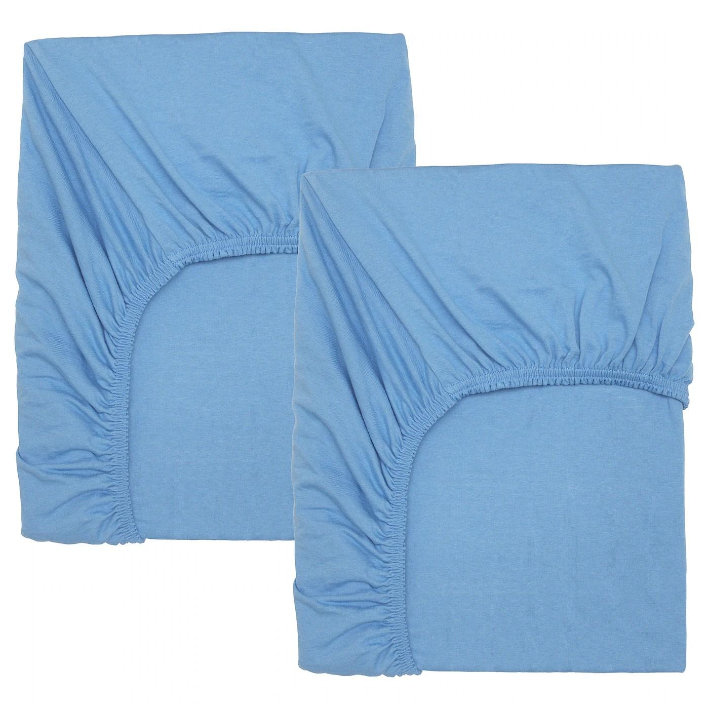 Len Drap Housse Pour Lit Bebe Bleu Clair 60x120 Cm Ikea