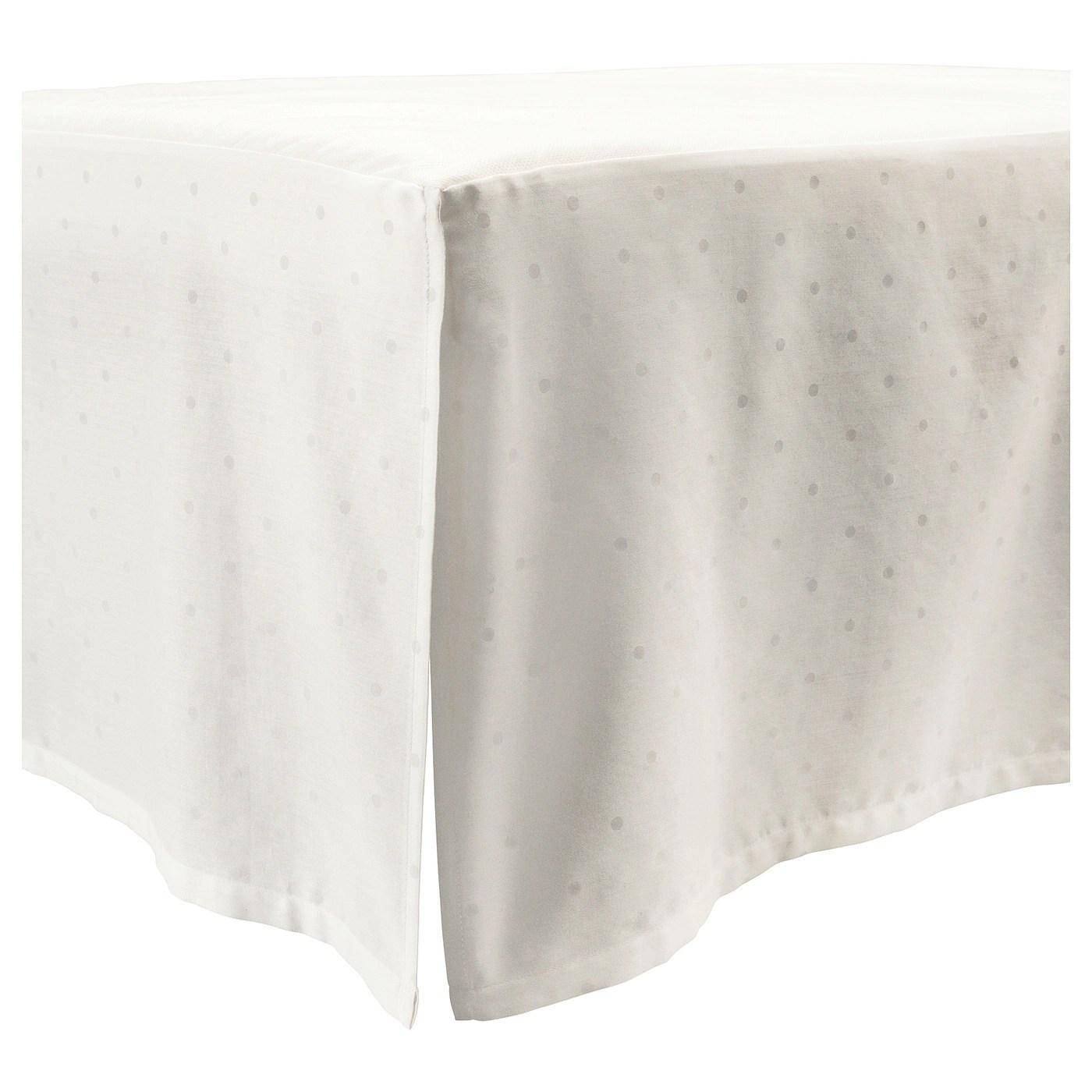 Lenast Jupe De Lit A Pois Blanc 60x120 Cm Ikea